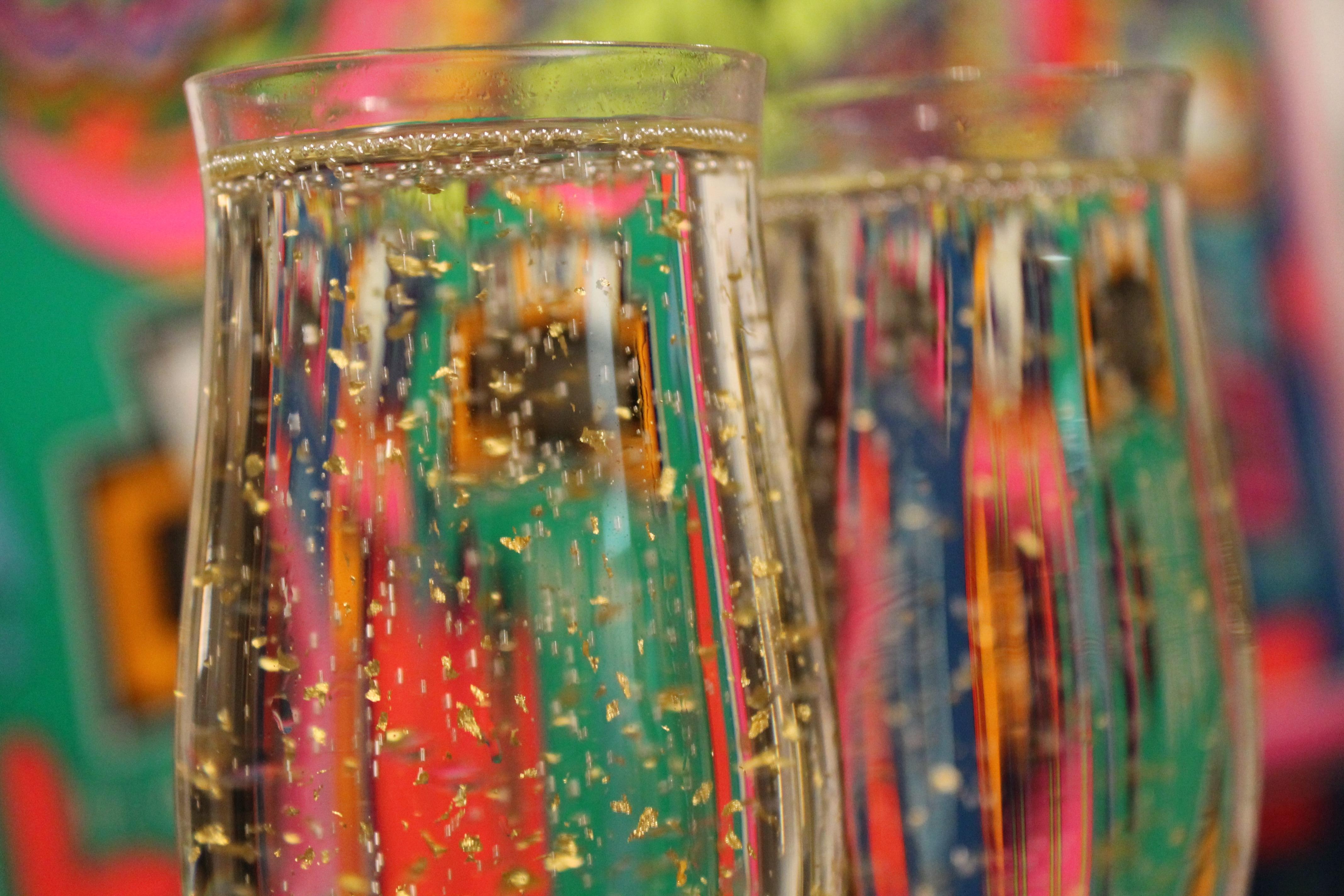 fb21e094721f glas fest farve Skål briller parti champagne Prost nytårsaften nytårsdag