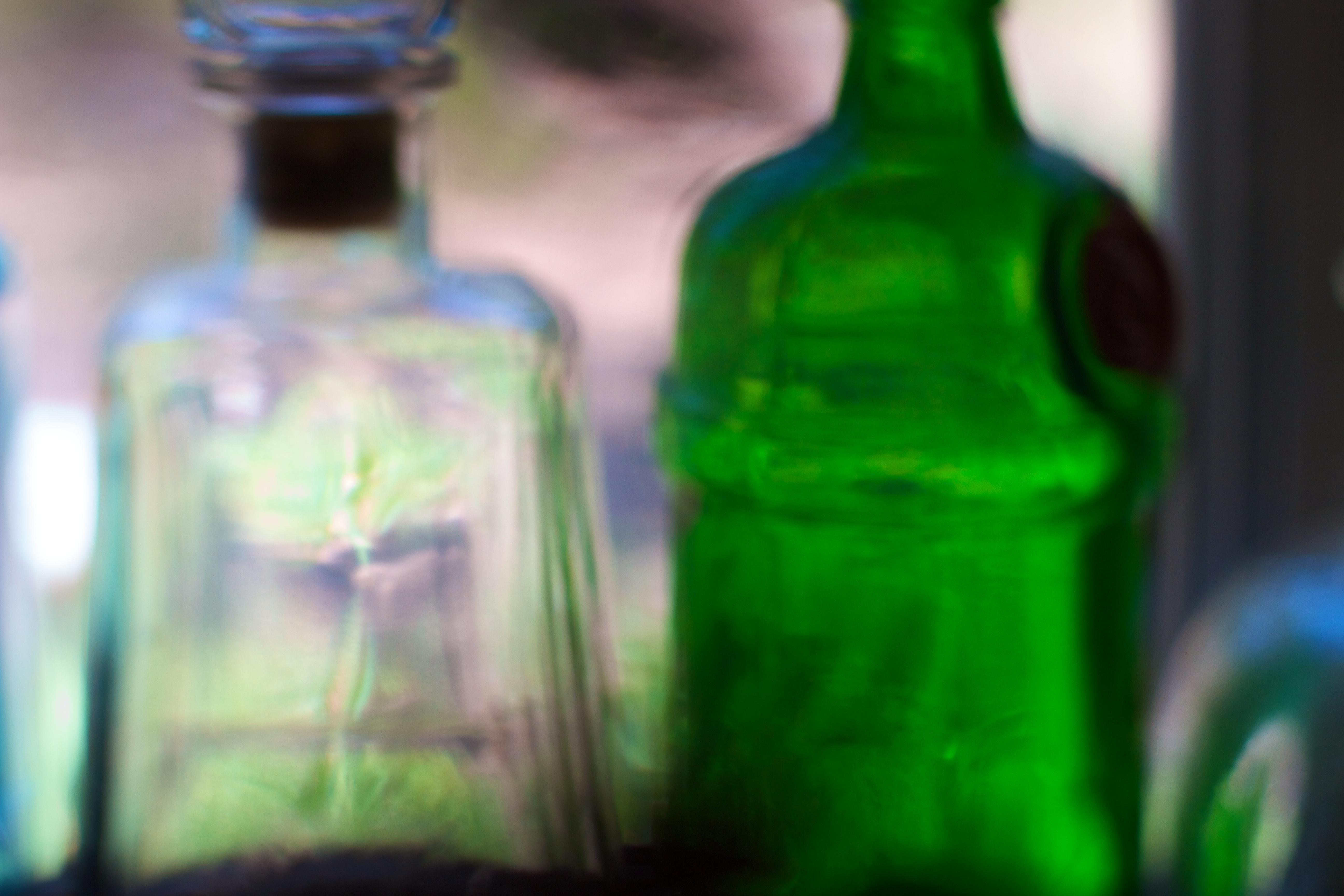 Free Images : green, drink, alcohol, wine bottle, glass bottle ...