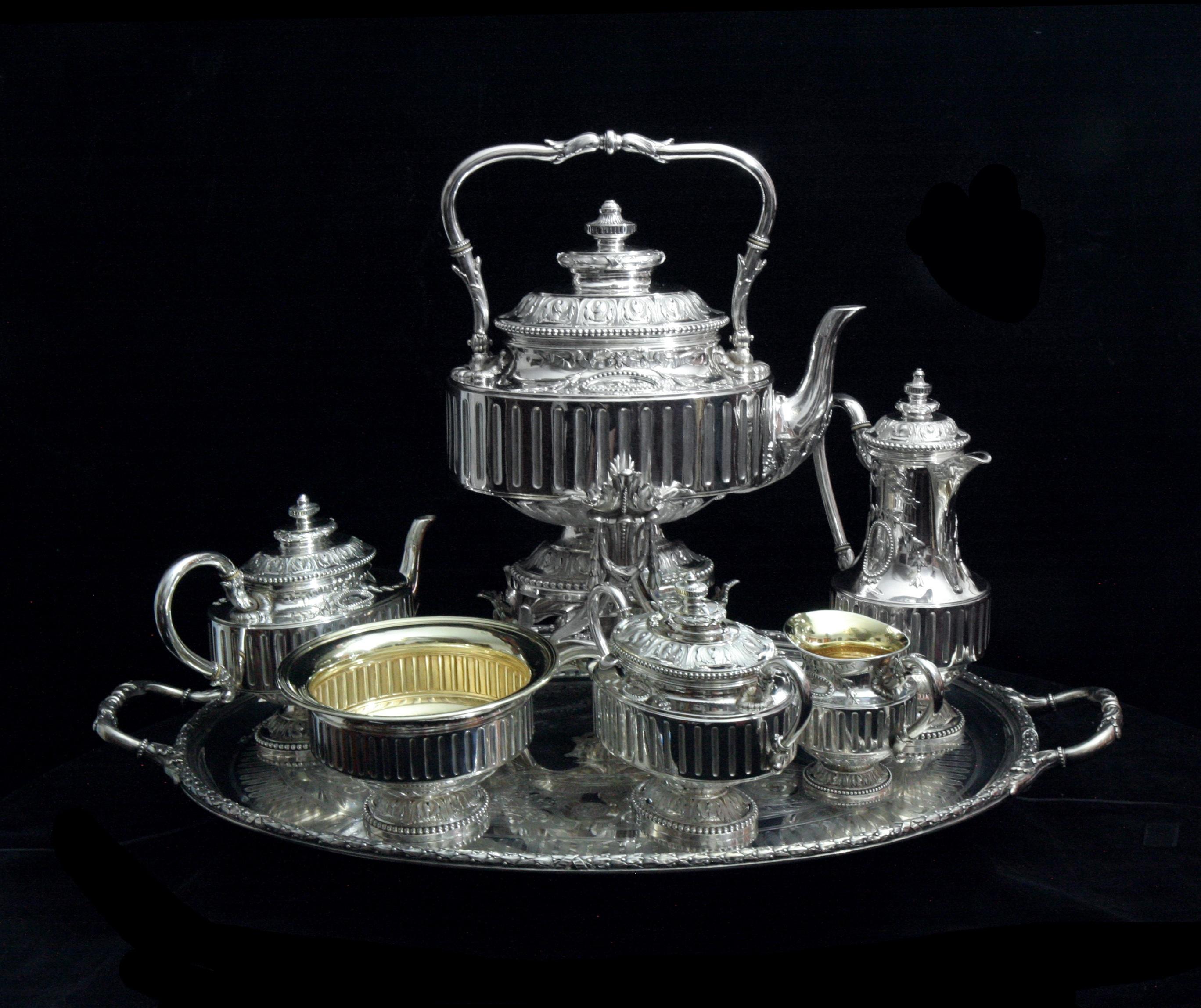 картинки серебряной посуды оформление