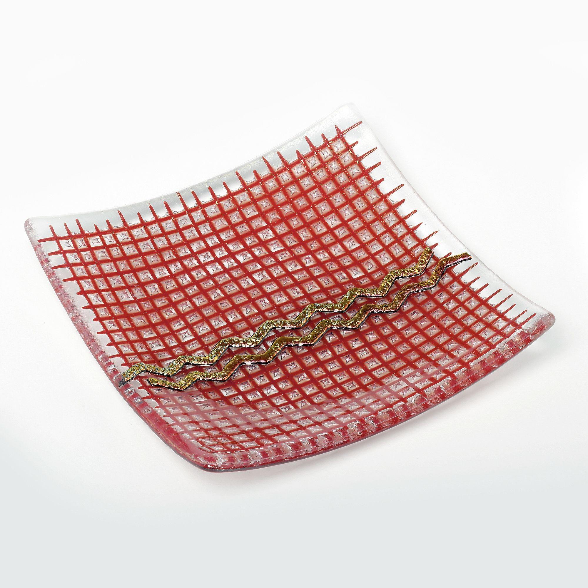kaca pola merah piring bahan tas tangan produk tekstil seni Desain bersih terang warnawarni kisi fashion
