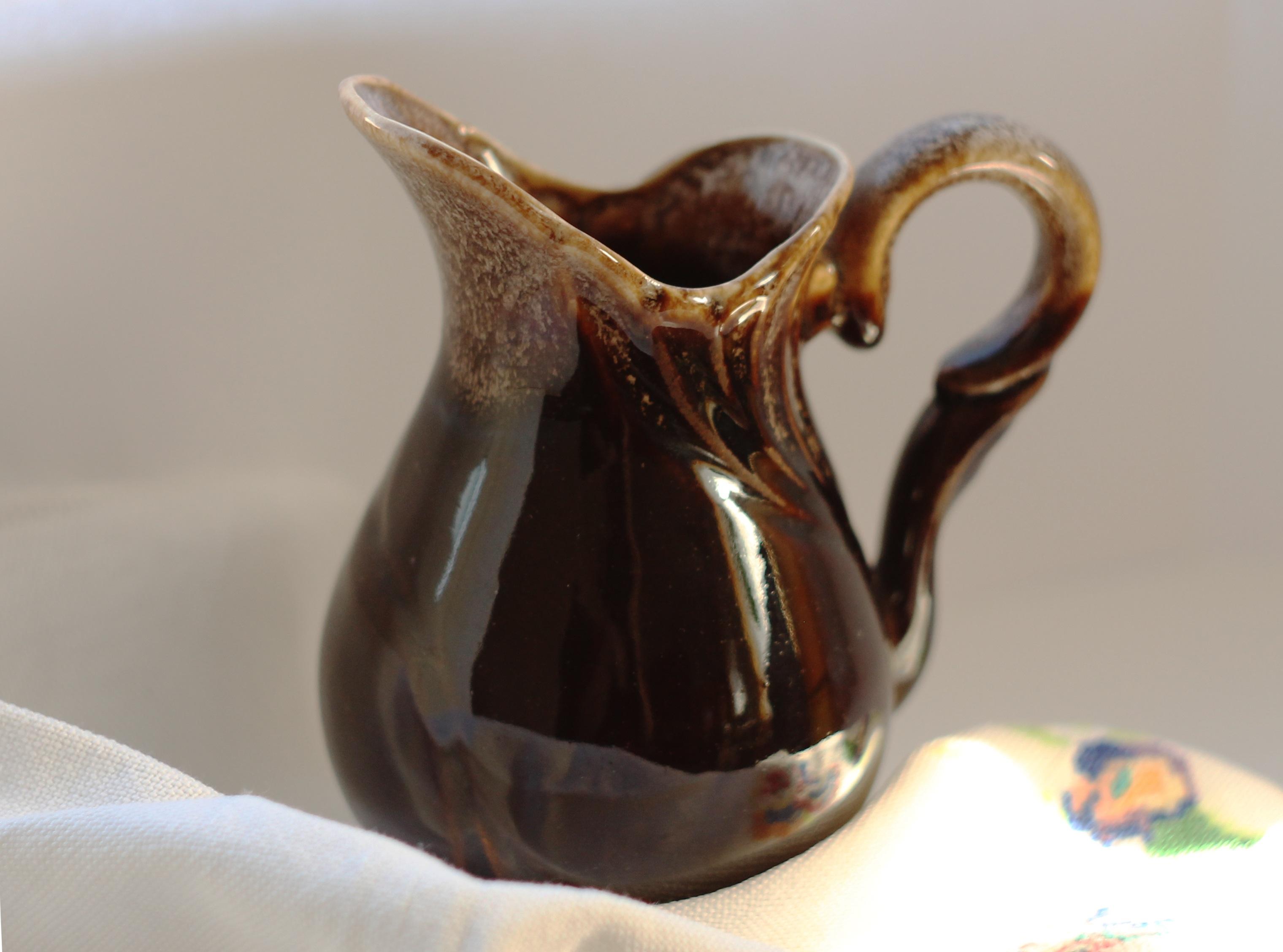 Glass Teapot Cup Vase Decoration Ceramic Brown Kitchen Pottery Tableware  Material Jug Art Pitcher Porcelain Crockery