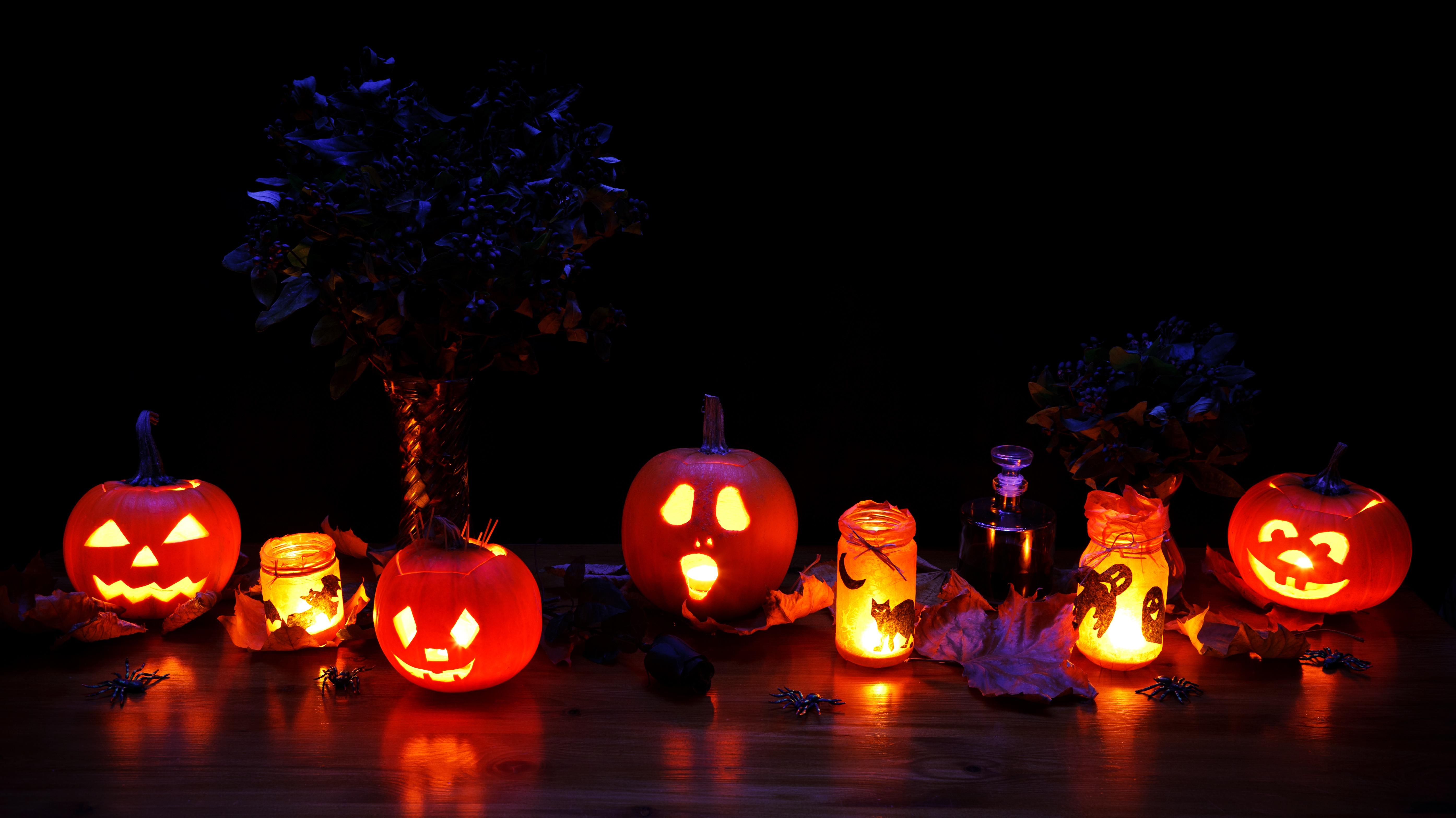 free images glowing fall spooky dark orange pumpkin. Black Bedroom Furniture Sets. Home Design Ideas