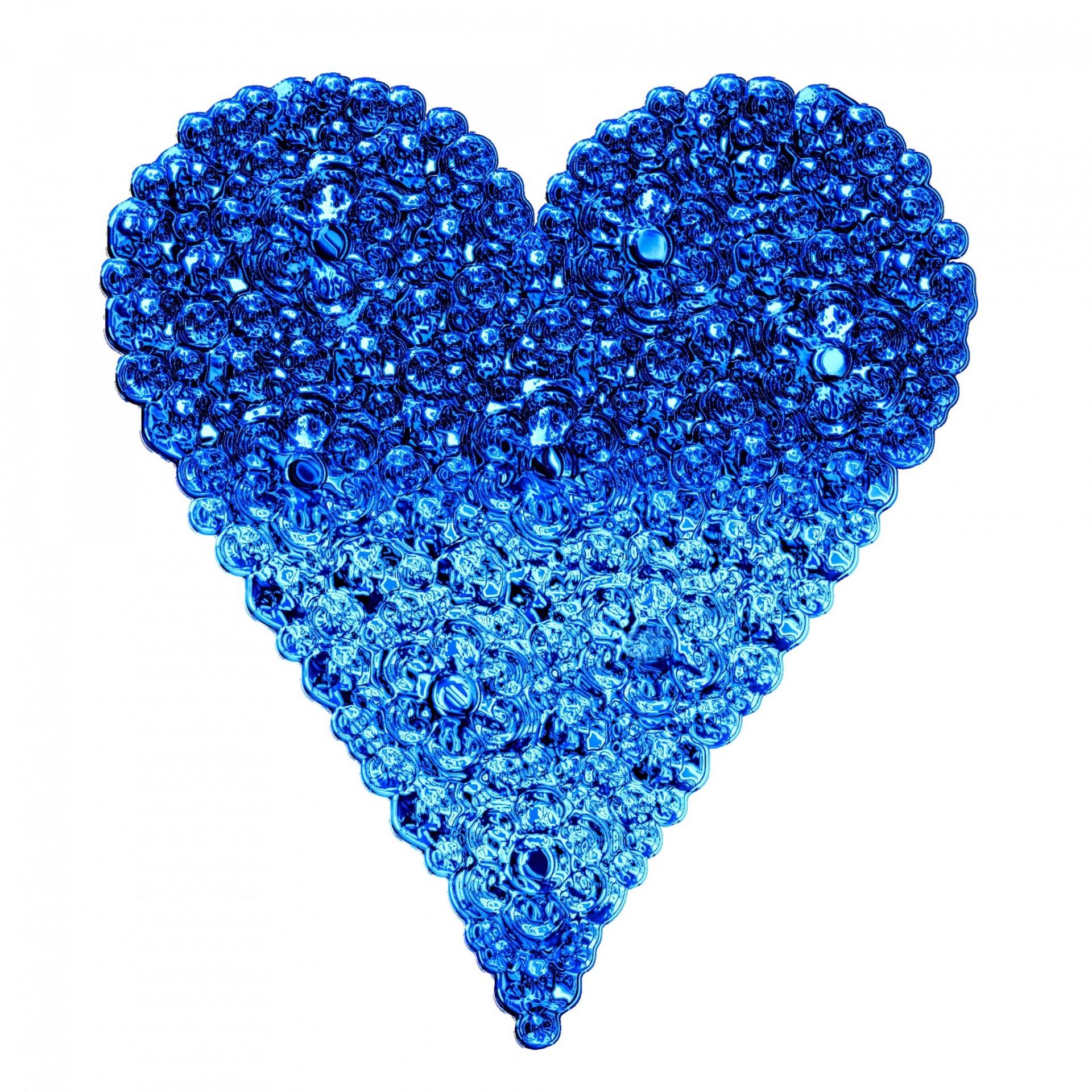 Gambar Bercahaya Daun Bunga Jantung Pola Halus Percintaan