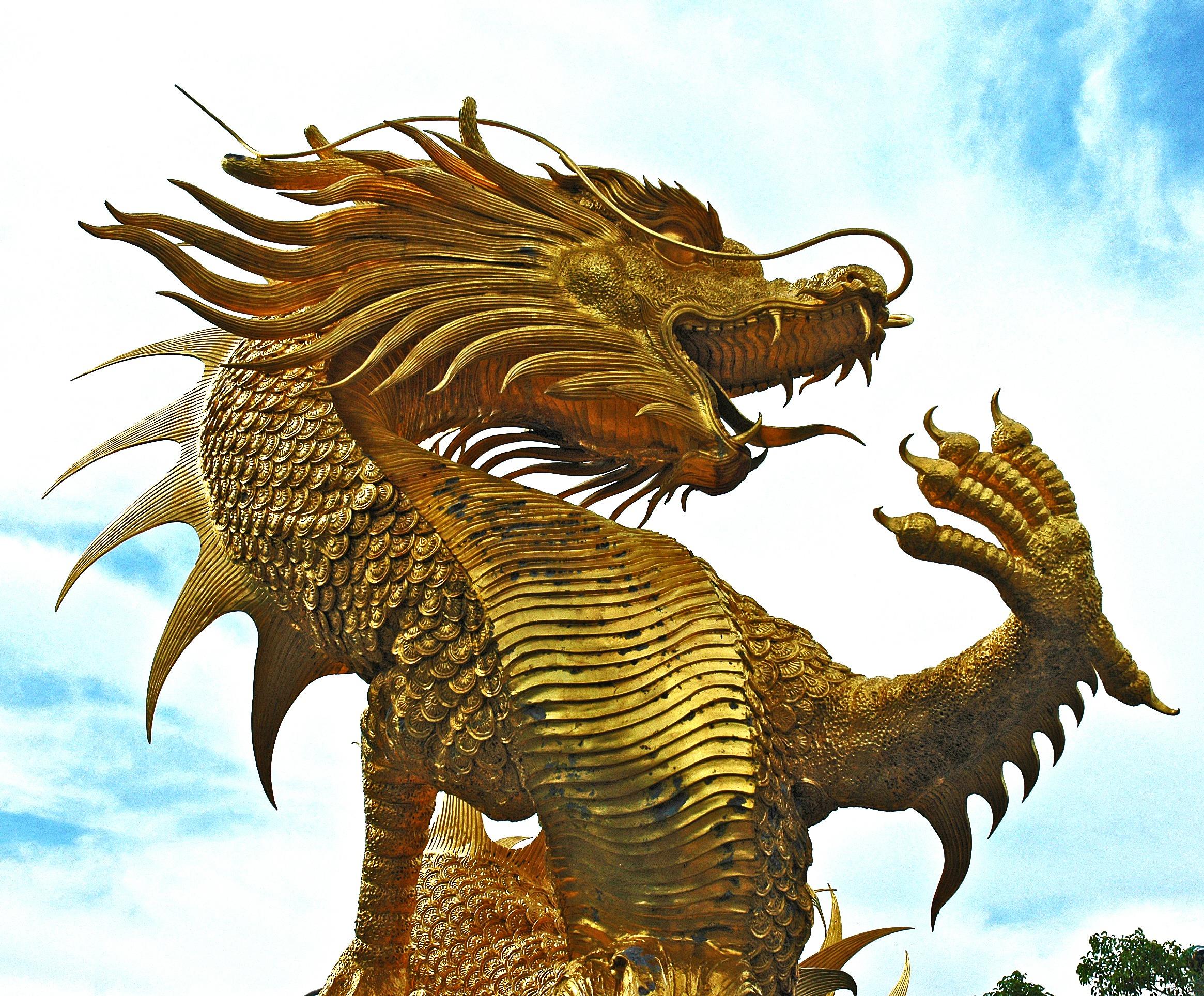 Free images golden thailand sculpture illustration - Images de dragons ...
