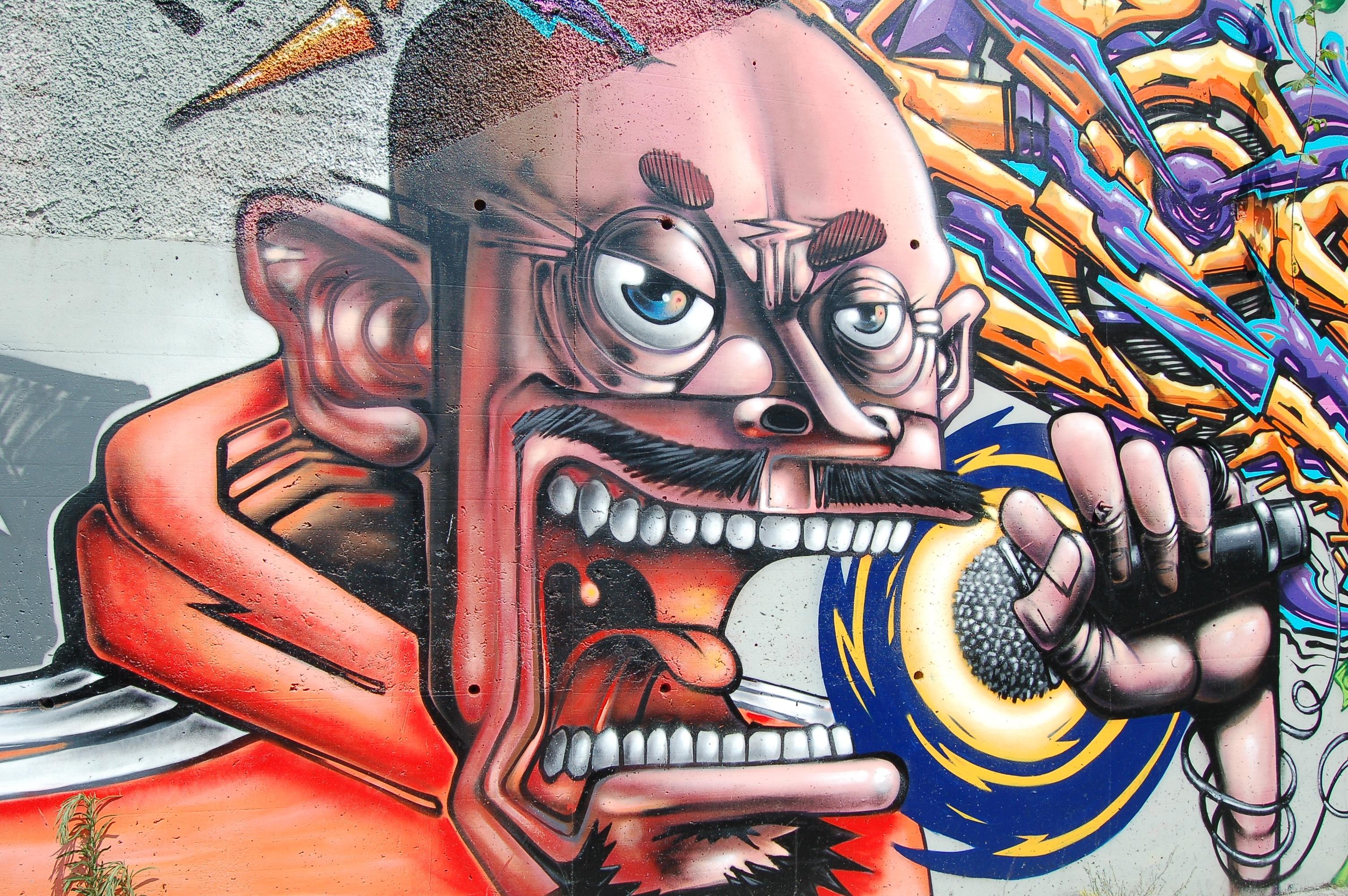 Gambar Coretan Seni Jalanan Ilustrasi Lukisan Dinding Gambar