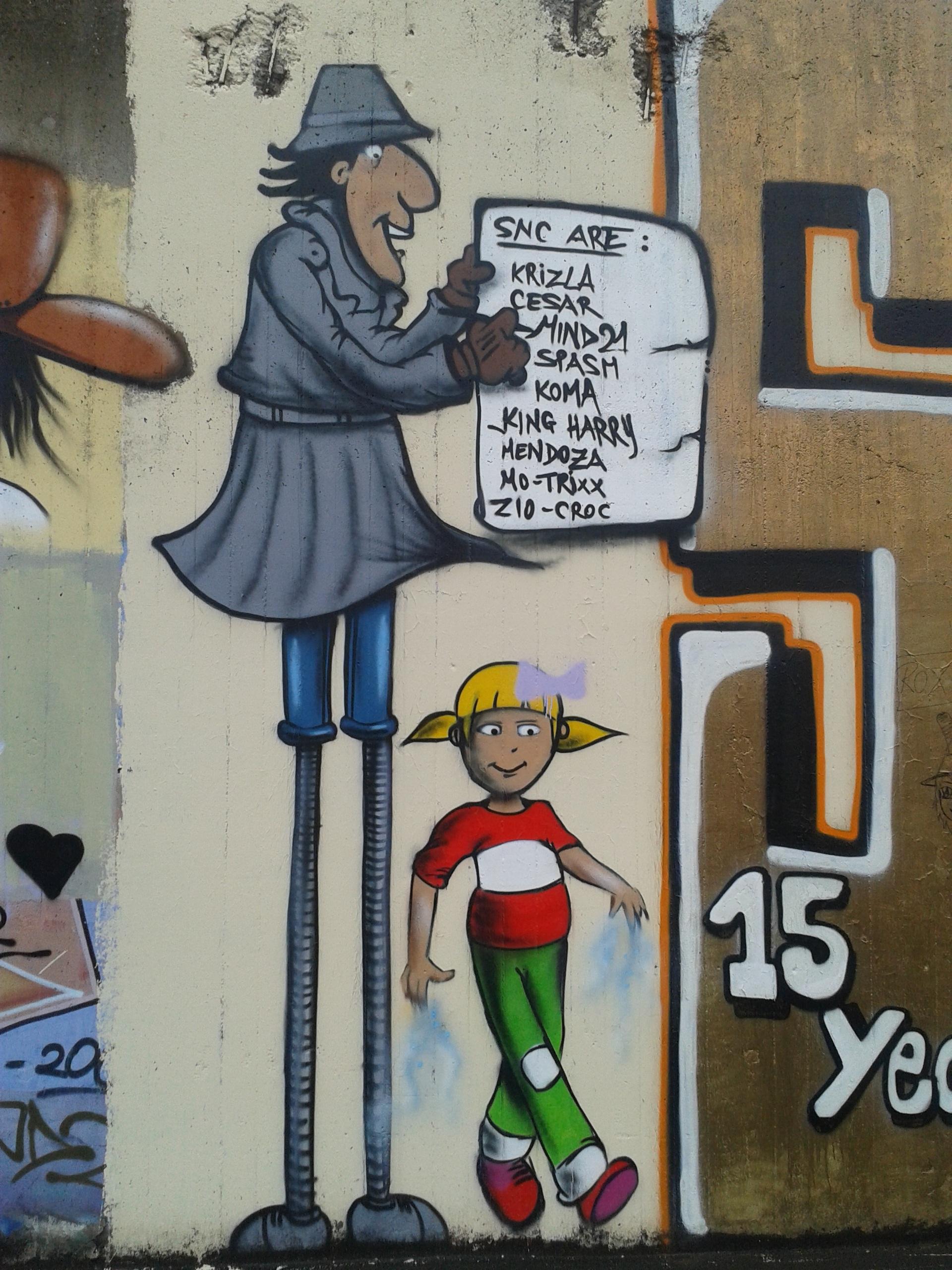 Gambar Coretan Seni Jalanan Lukisan Dinding Gambar Kartun