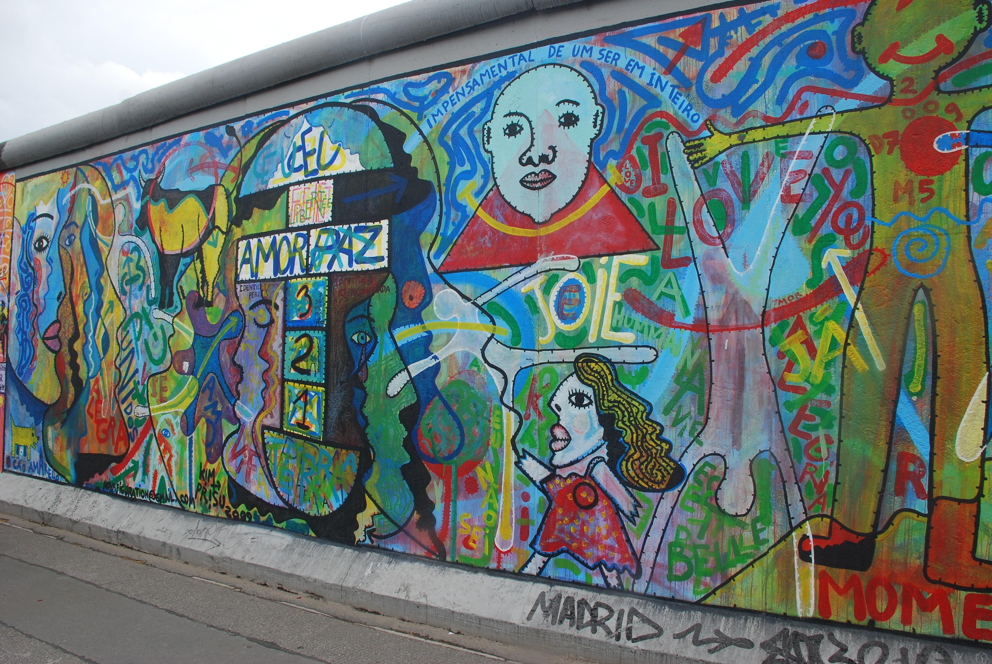 Coretan Seni Jalanan Seni Lukisan Dinding Jerman Berlin Graffiti Daerah Perkotaan Tembok Berlin
