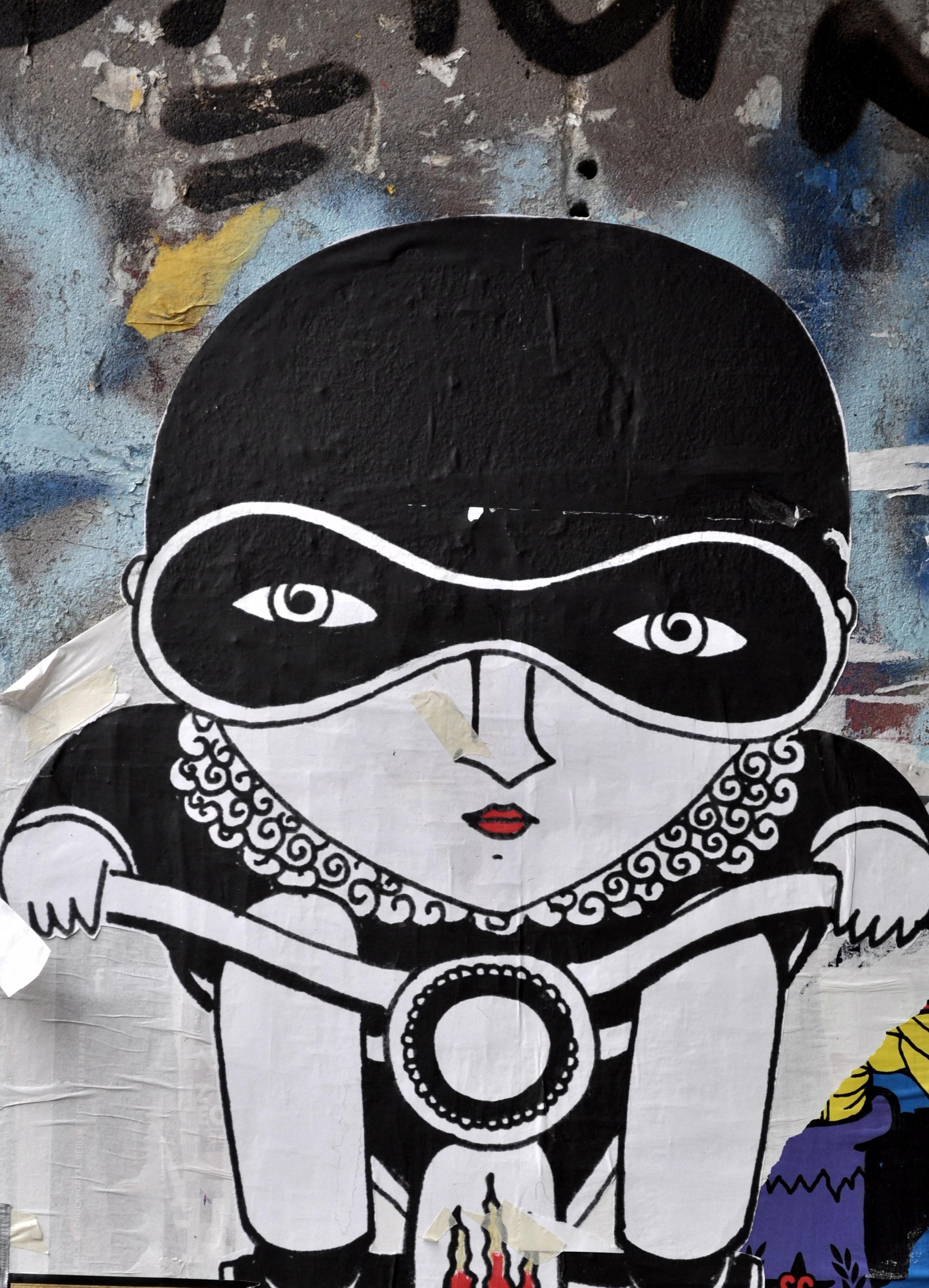 Gambar Coretan Seni Jalanan Sketsa Ilustrasi Lukisan Dinding