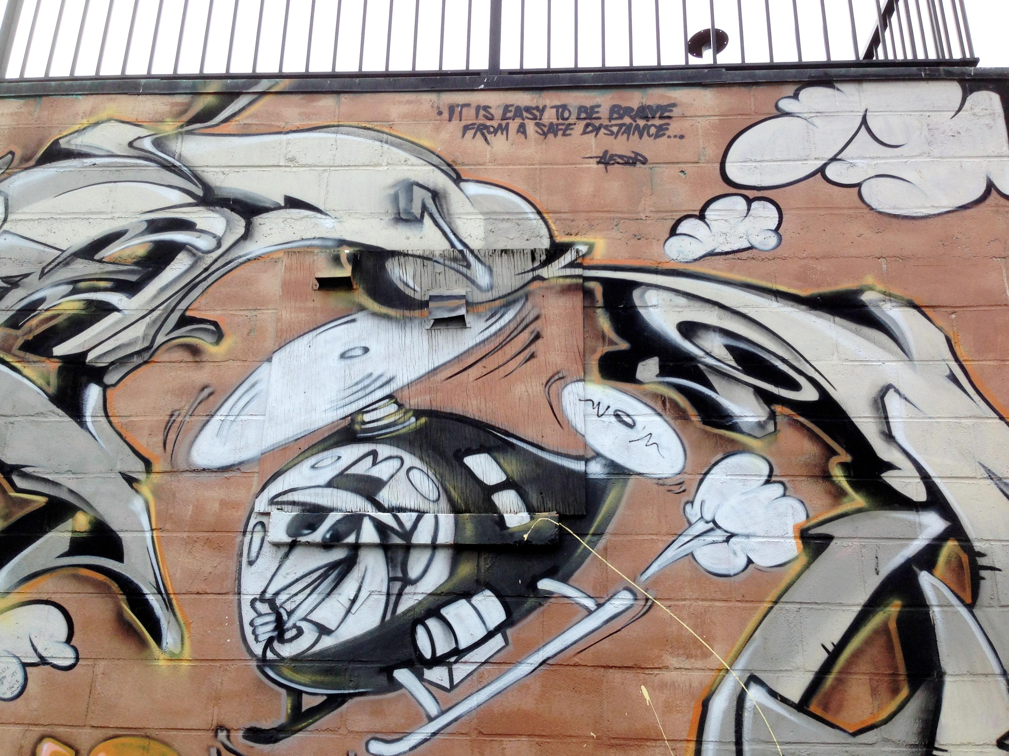 Banco De Imagens Grafite Arte De Rua Esboço Desenhando