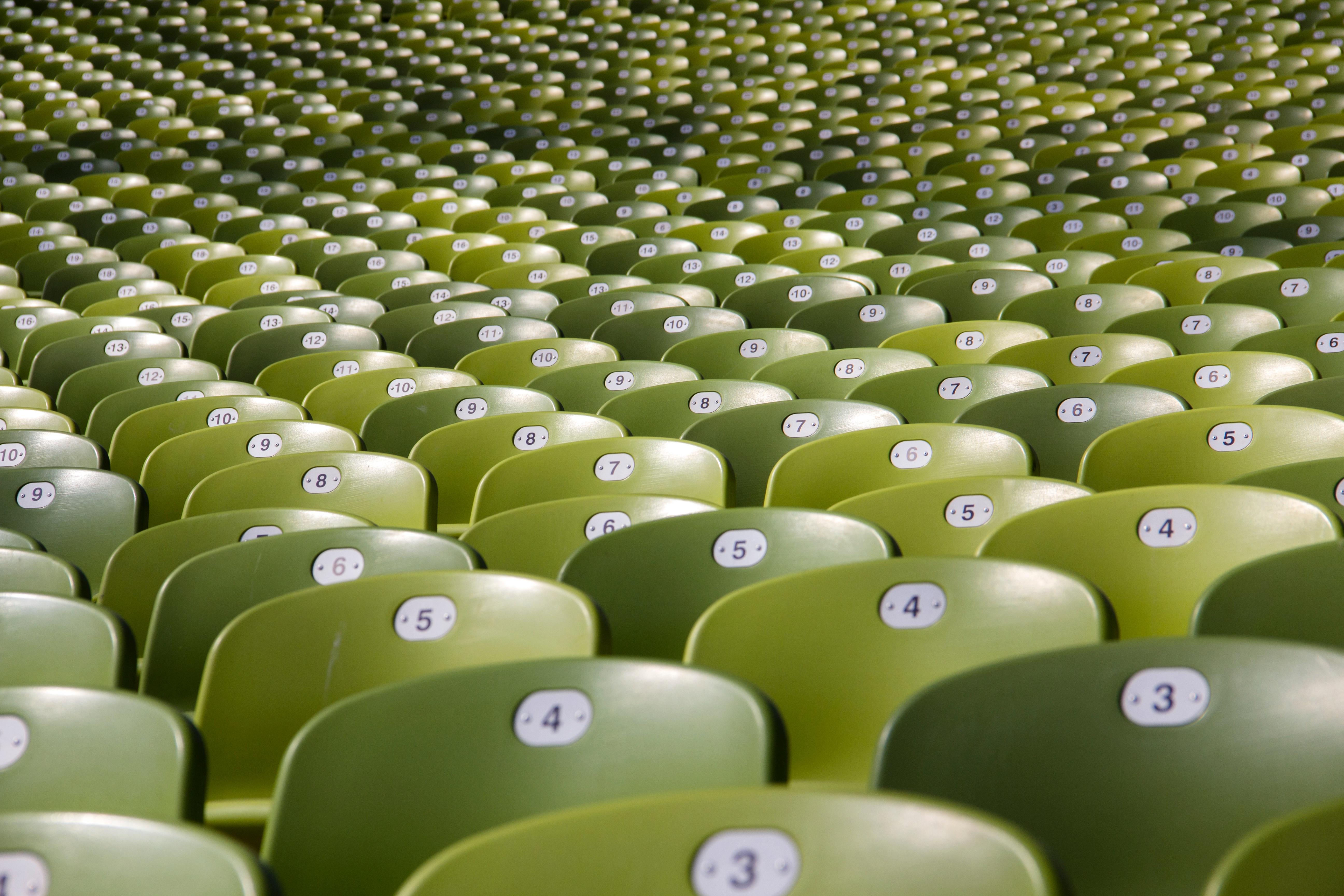 Free grass chair seat number green stadium circle