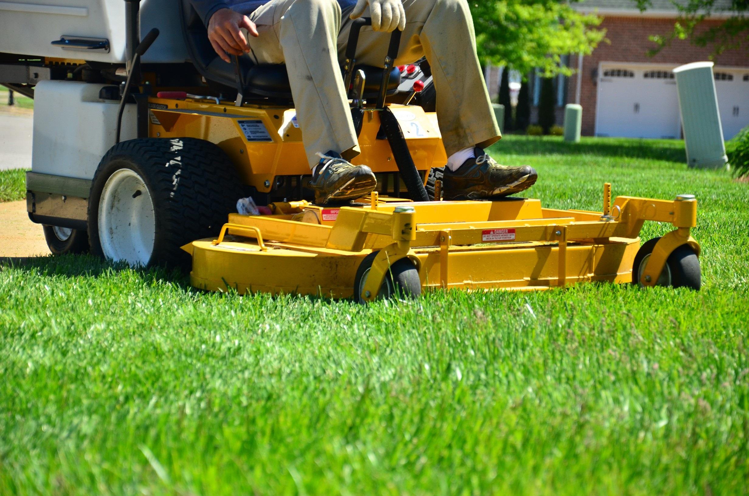 Free images field tool asphalt vehicle lawn mower for Garden maintenance van