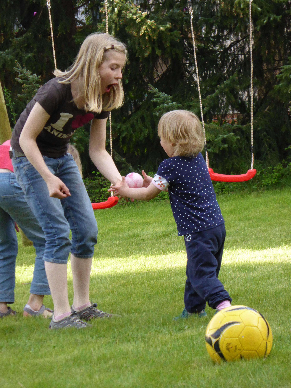 Free grass lawn child childhood swing children