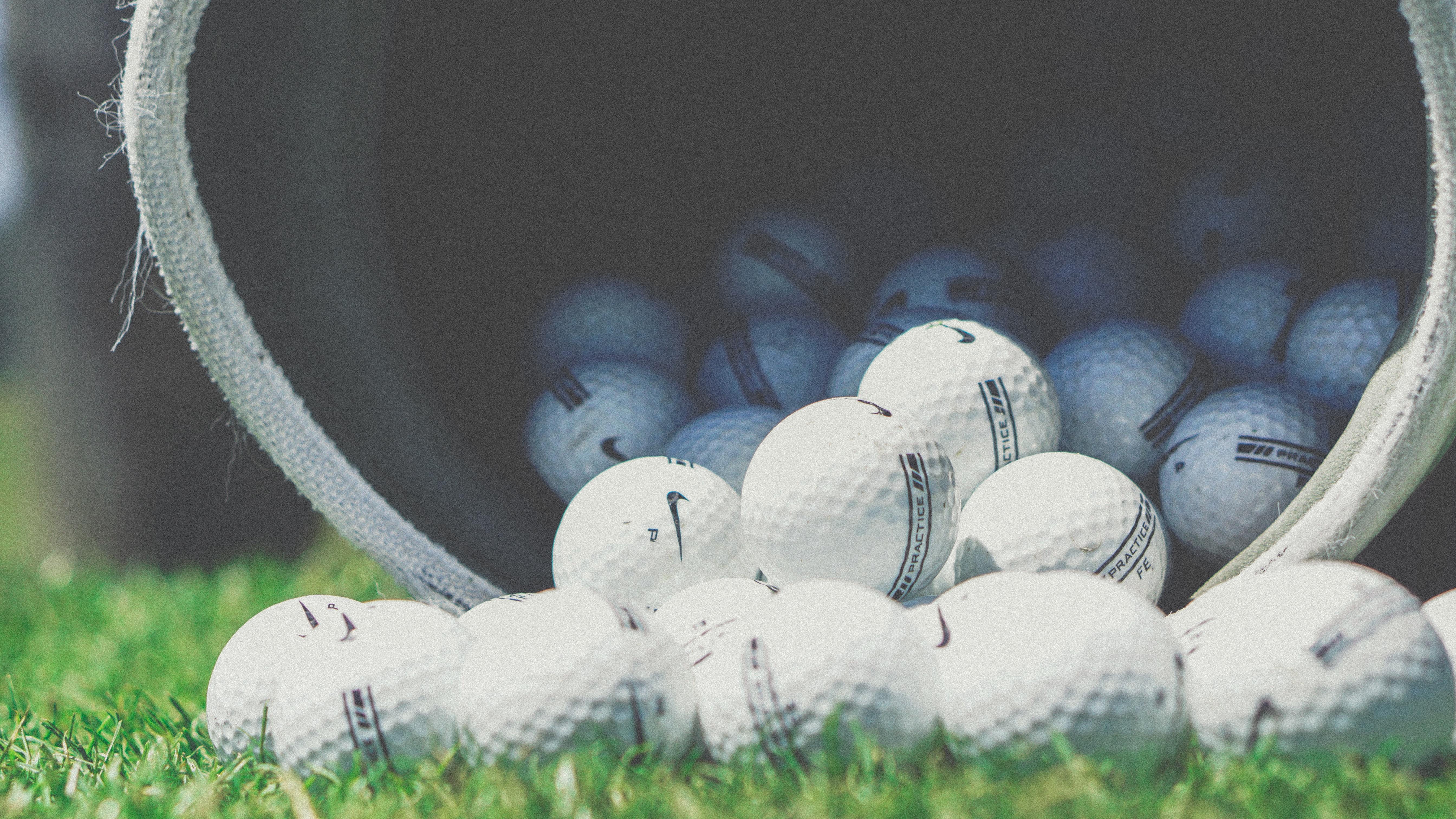 Grass Nike Blue Football Golf Ball Macro Photography Computer Wallpaper