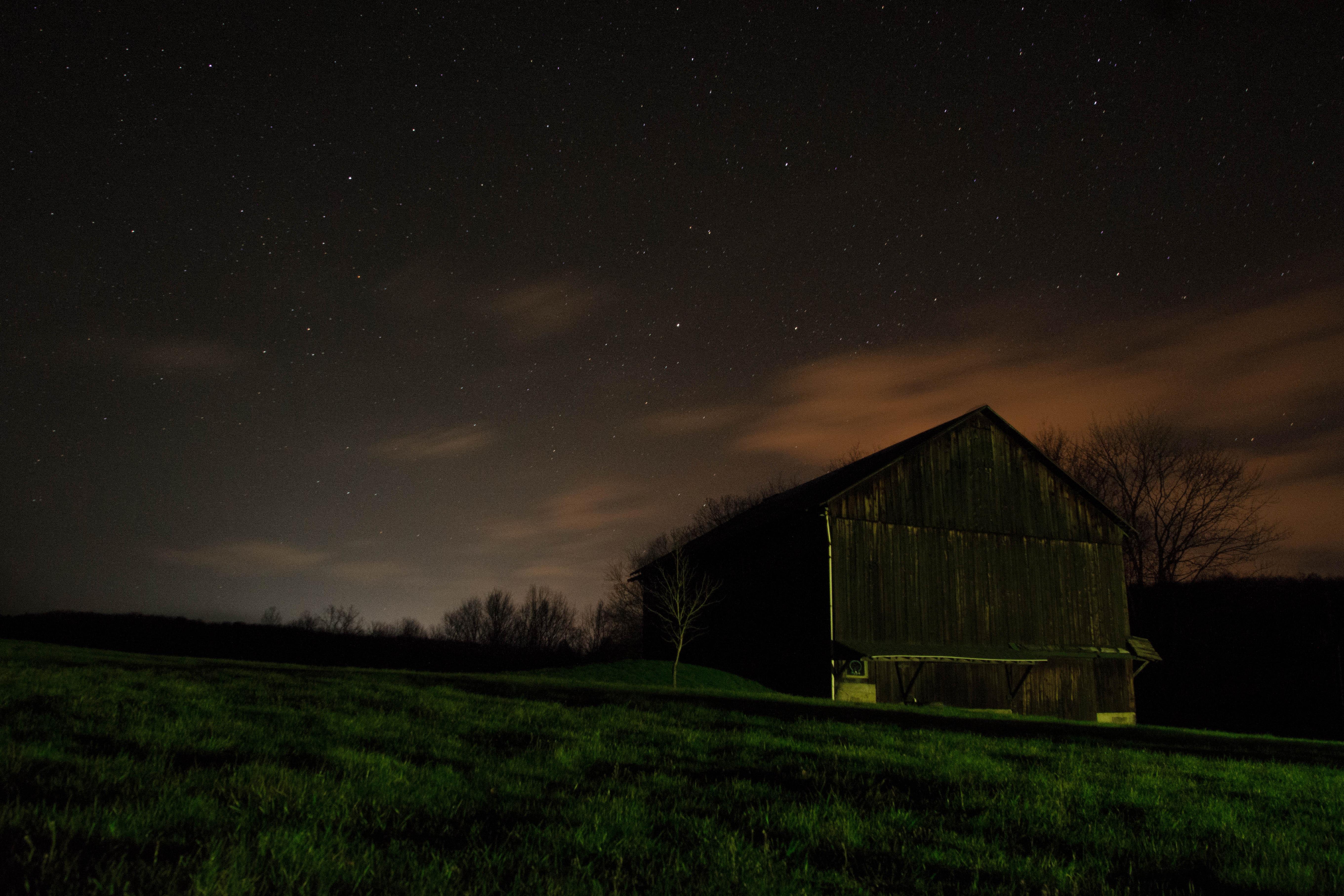 Free Images : grass, outdoor, light, sky, farm, night ...