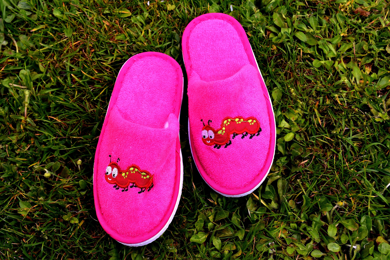03f5370d61 fű cipő lány rét virág aranyos láb tavaszi zöld piros rózsaszín papucs  gyermekek cipő vicces bíborvörös