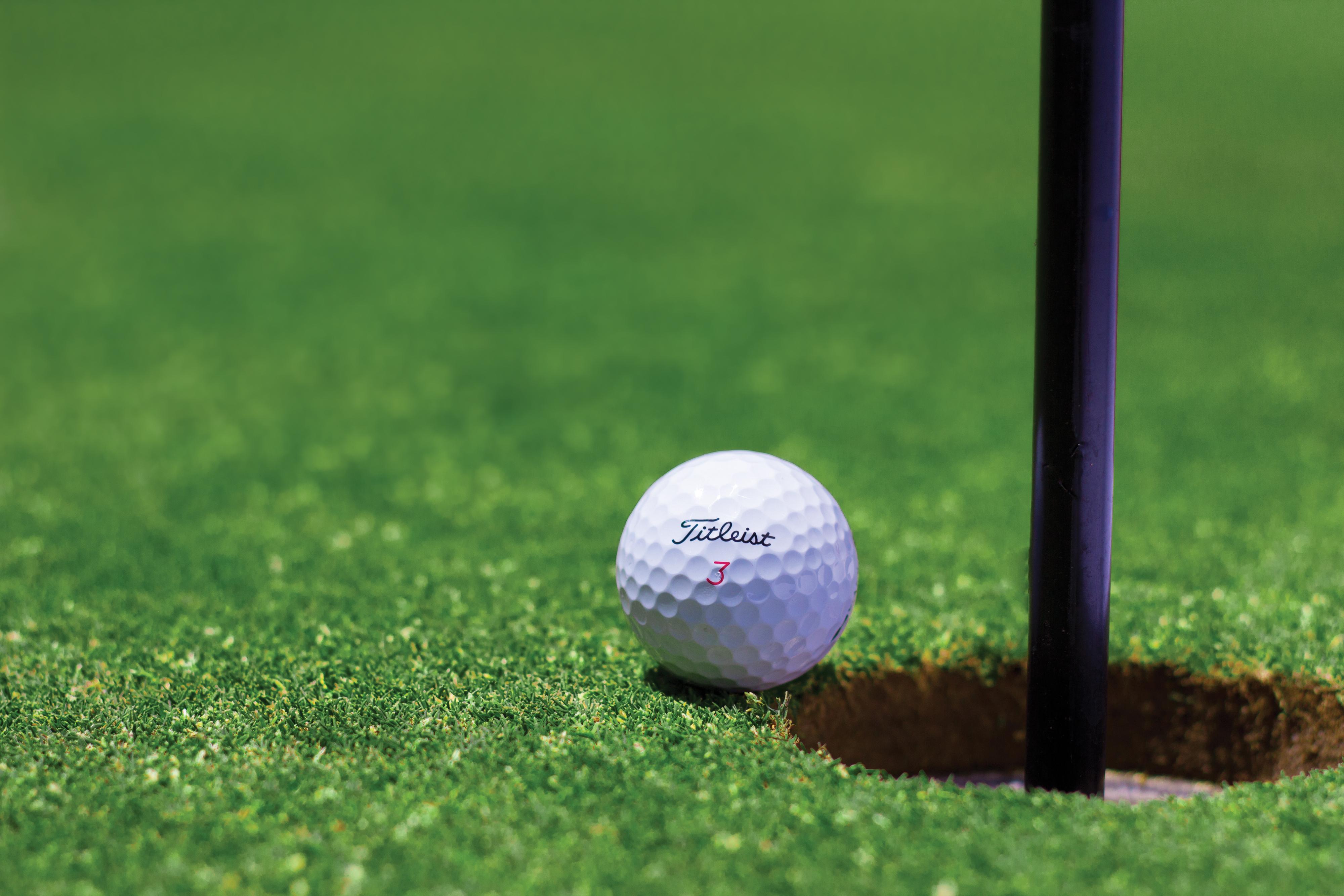 Мяч от гольфа на земле скачать