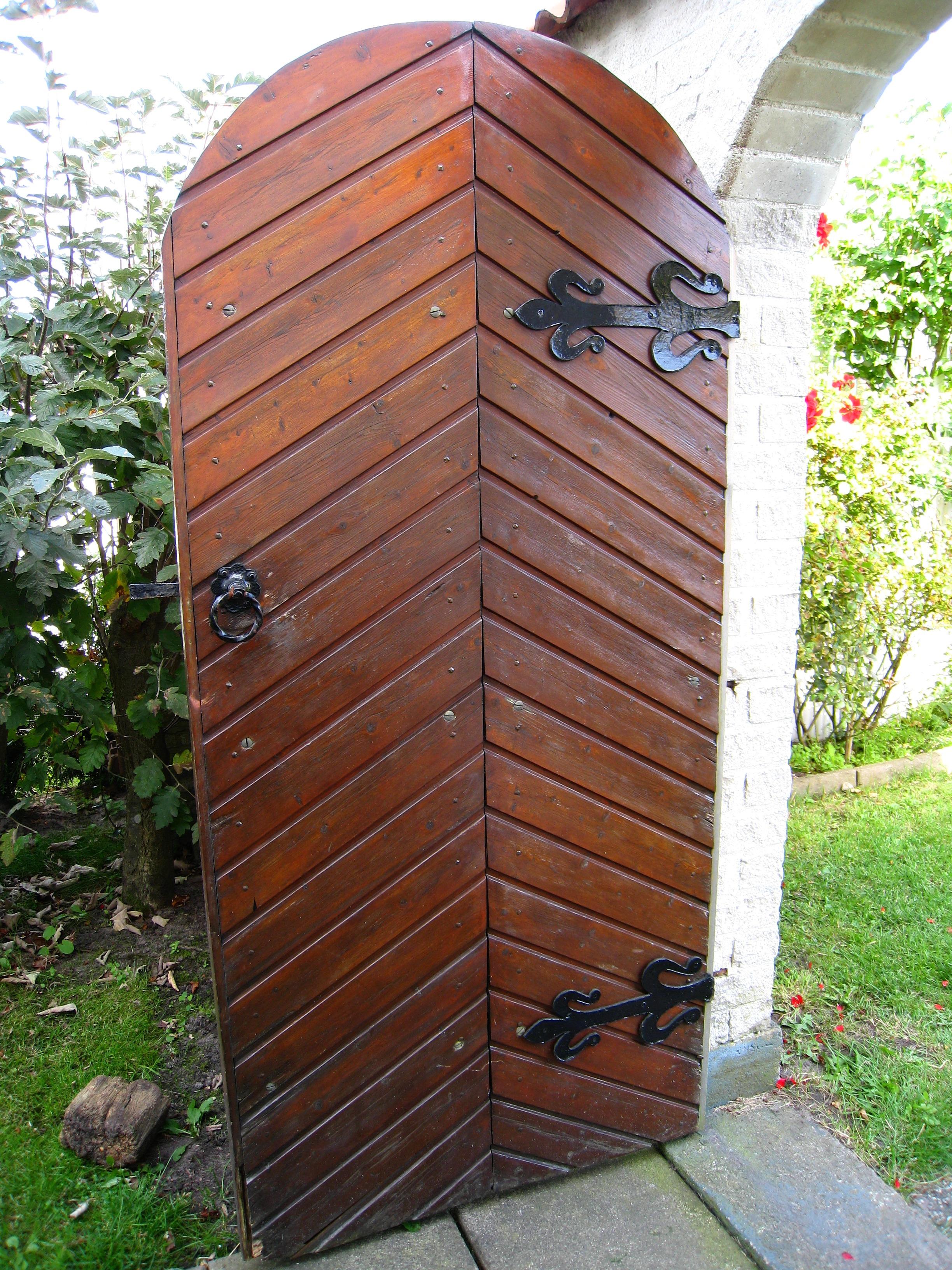 Puertas jardin madera vallas y puertas madera with - Puertas de madera para jardin ...