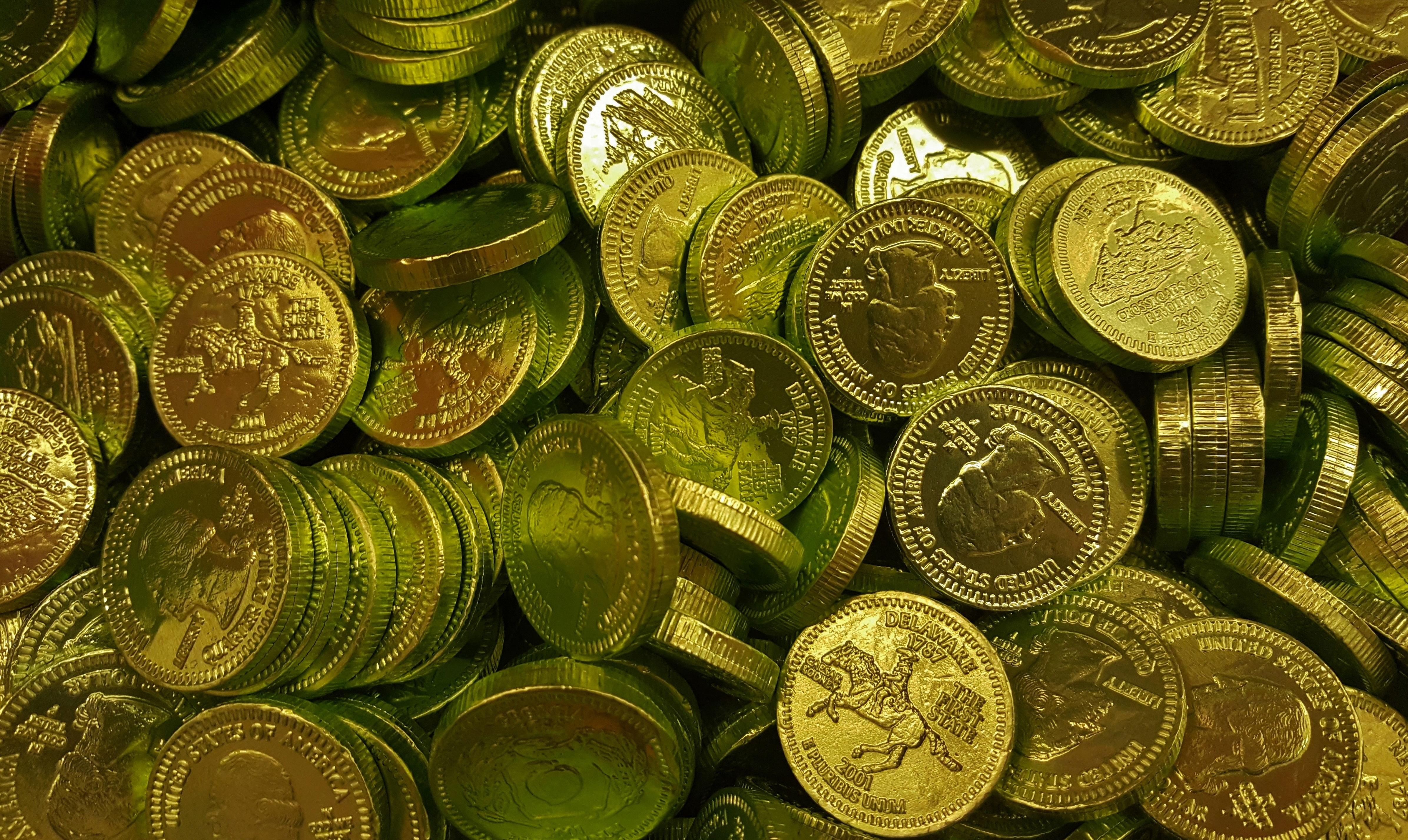 Free Images Green Golden Metal Money Chocolate