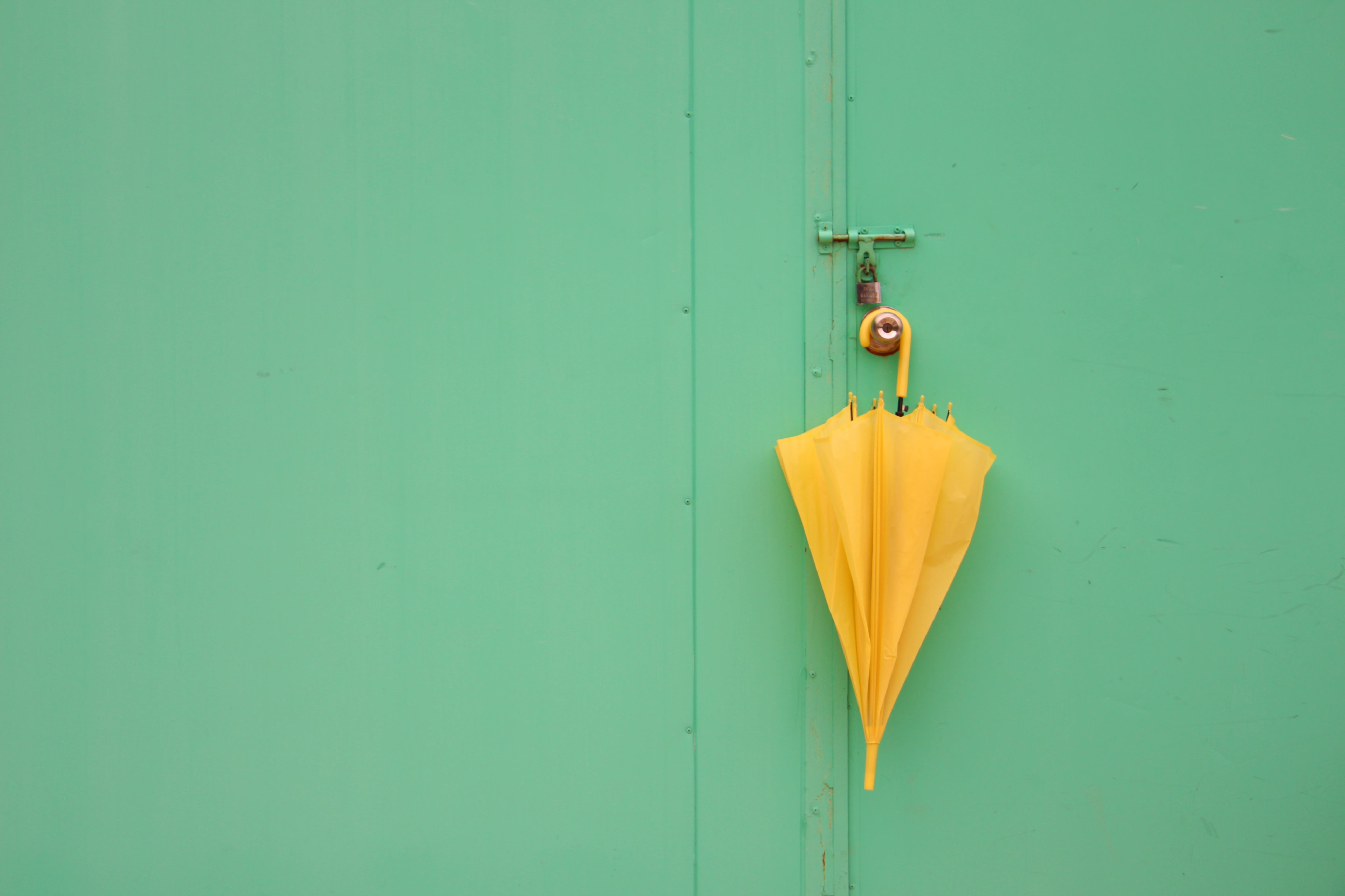Immagini belle verde ombrello colore giallo illuminazione