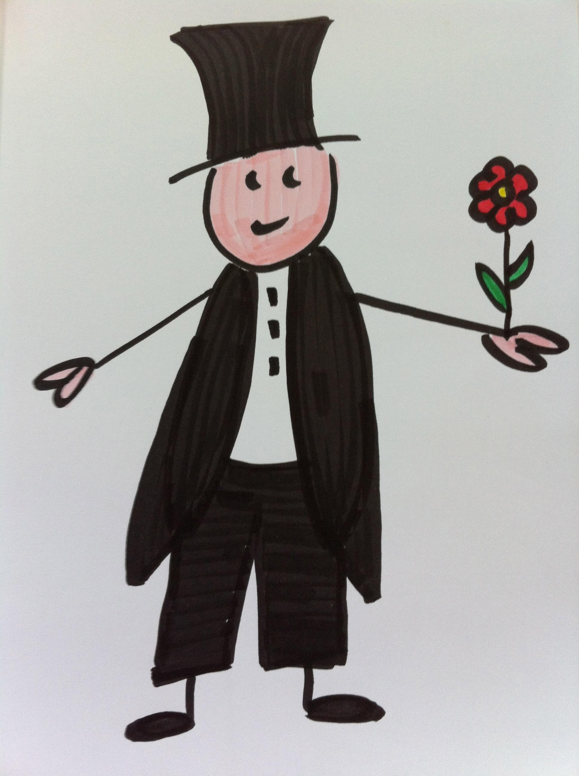 Gambar Pengantin Laki Laki Seni Sketsa Ilustrasi Orang