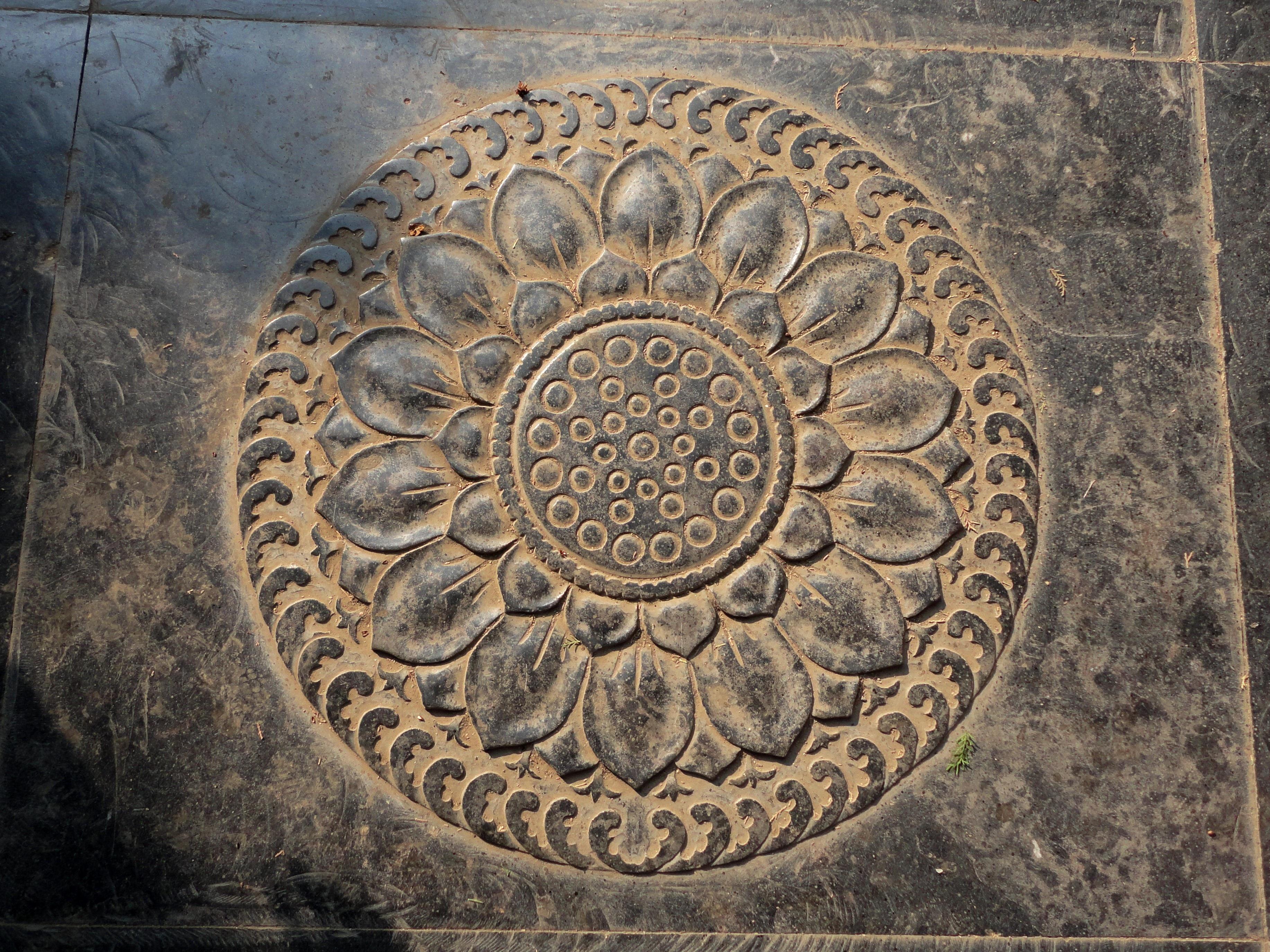 Free Images Ground Texture Symbol Asia Circle Lotus Flower