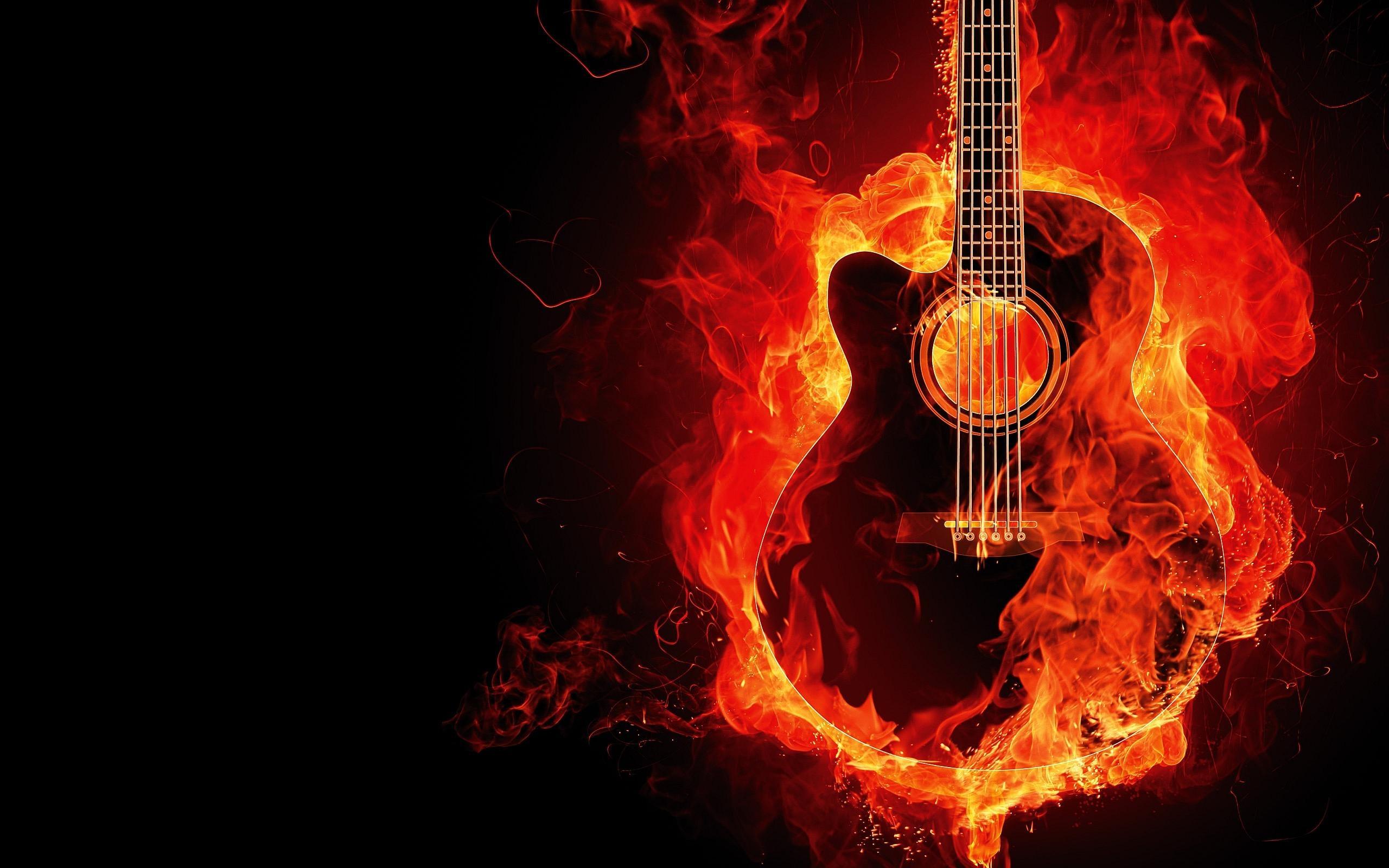 無料画像 オレンジ 火炎 火災 燃えるギター フォント 図
