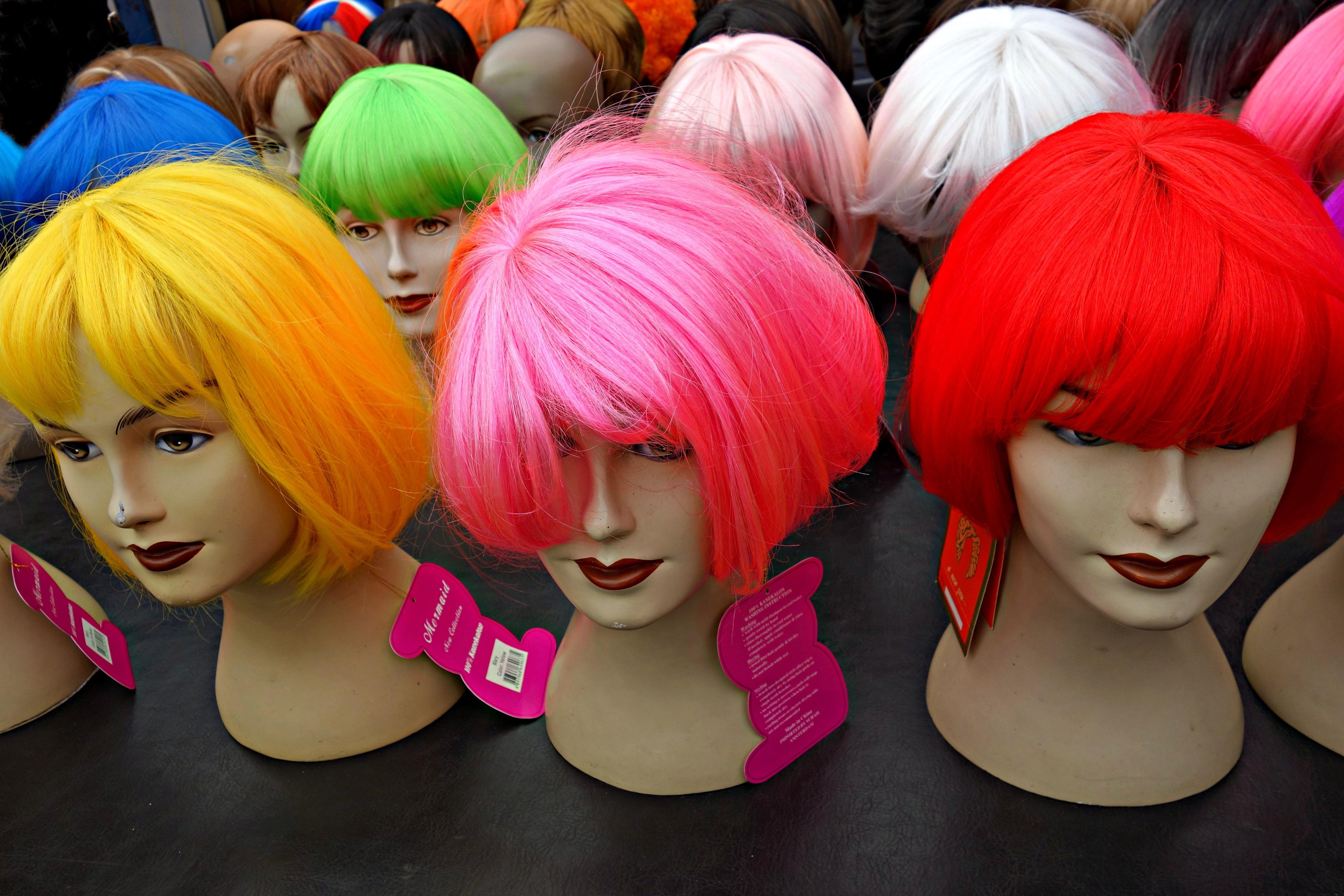 8160387eee cabello rojo color Moda mercado ropa rosado peinado cabello rojo muñeca  mujer disfraz peluca Anime glamour