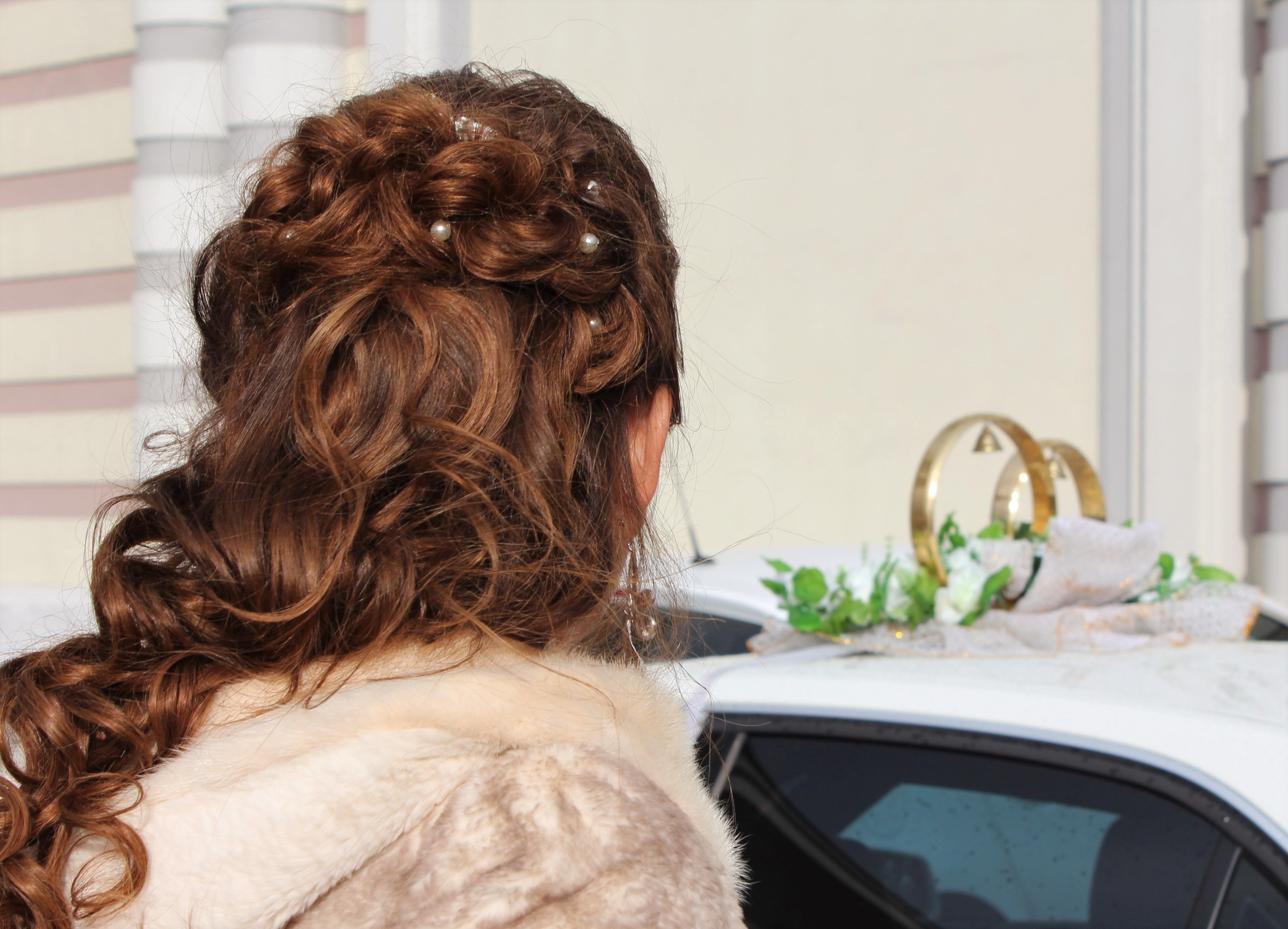 Kostenlose Foto Haar Ring Pelz Jung Hochzeit Braut Frisur