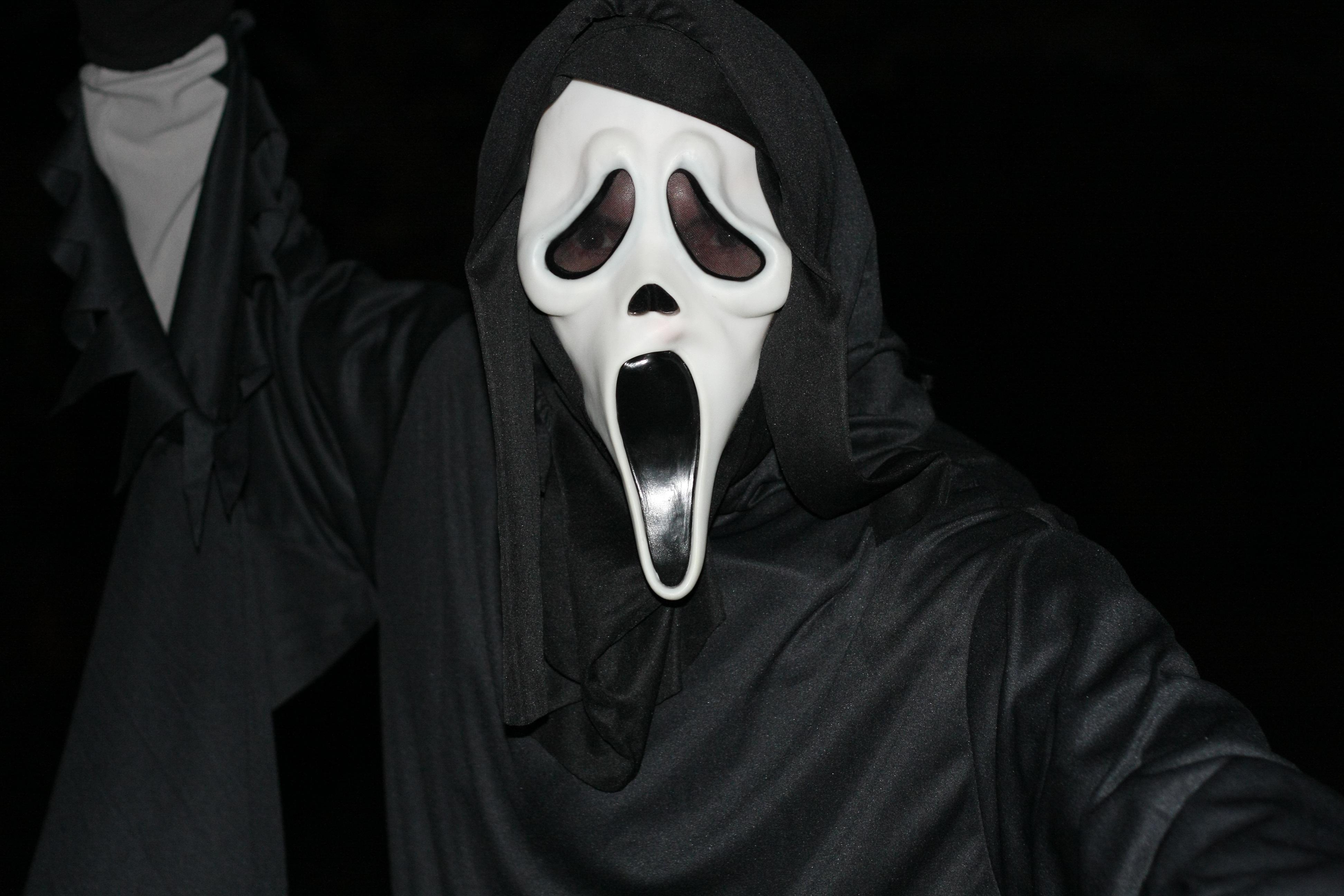 Images gratuites halloween obscurit v tements noir couvre chefs peur masque squelette - Masque halloween film ...