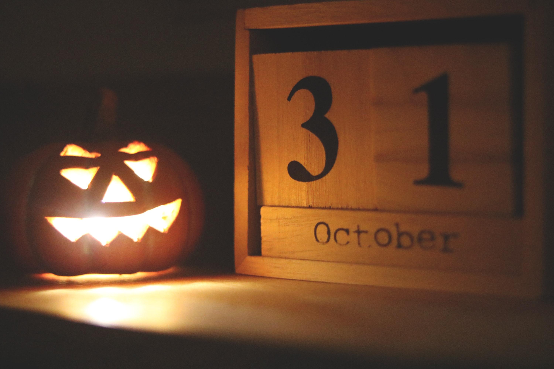 Immagini belle halloween zucca illuminazione jack o lantern