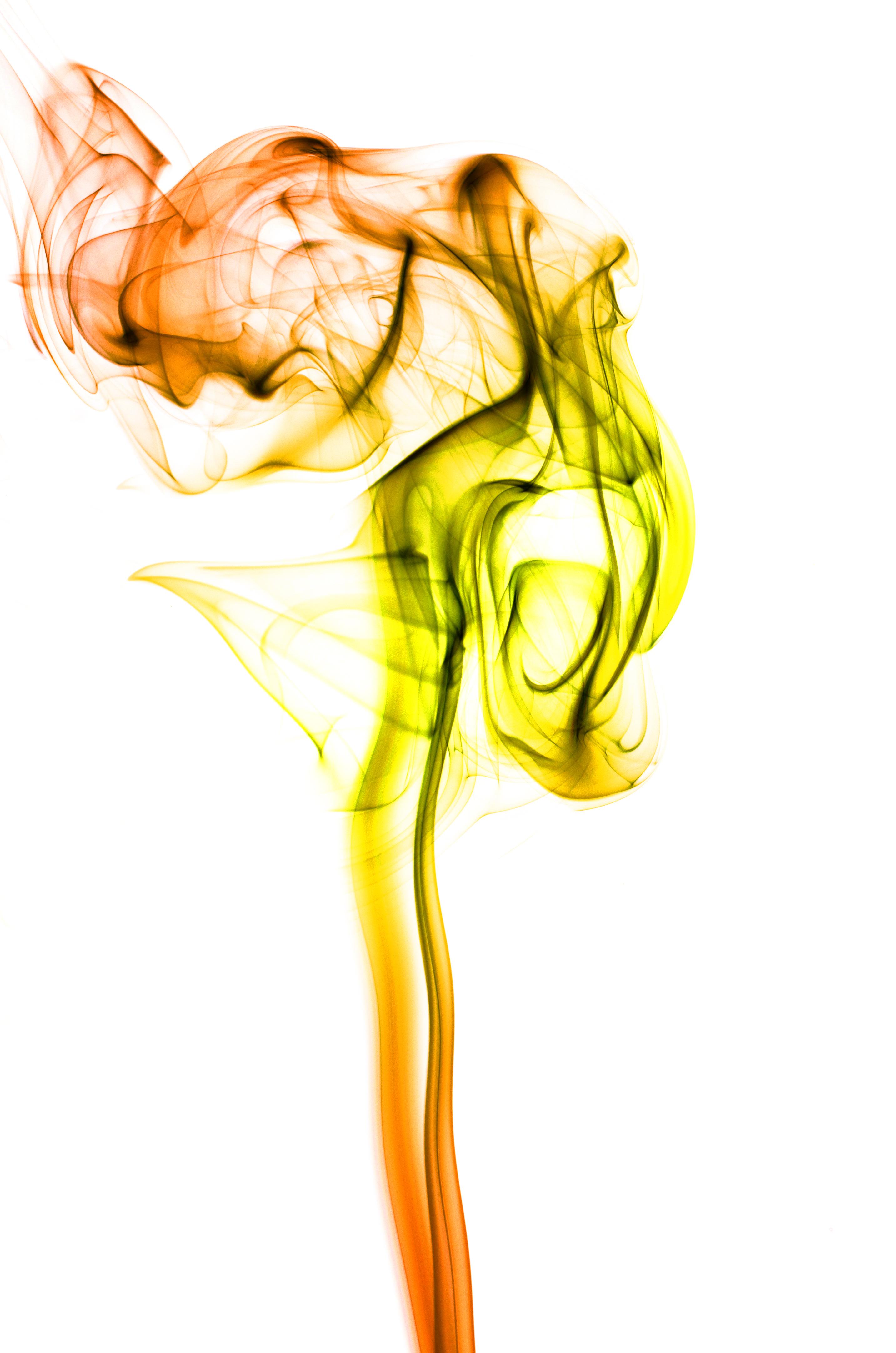 Gambar Tangan Abstrak Merokok Jeruk Hijau Merah Warna Makro