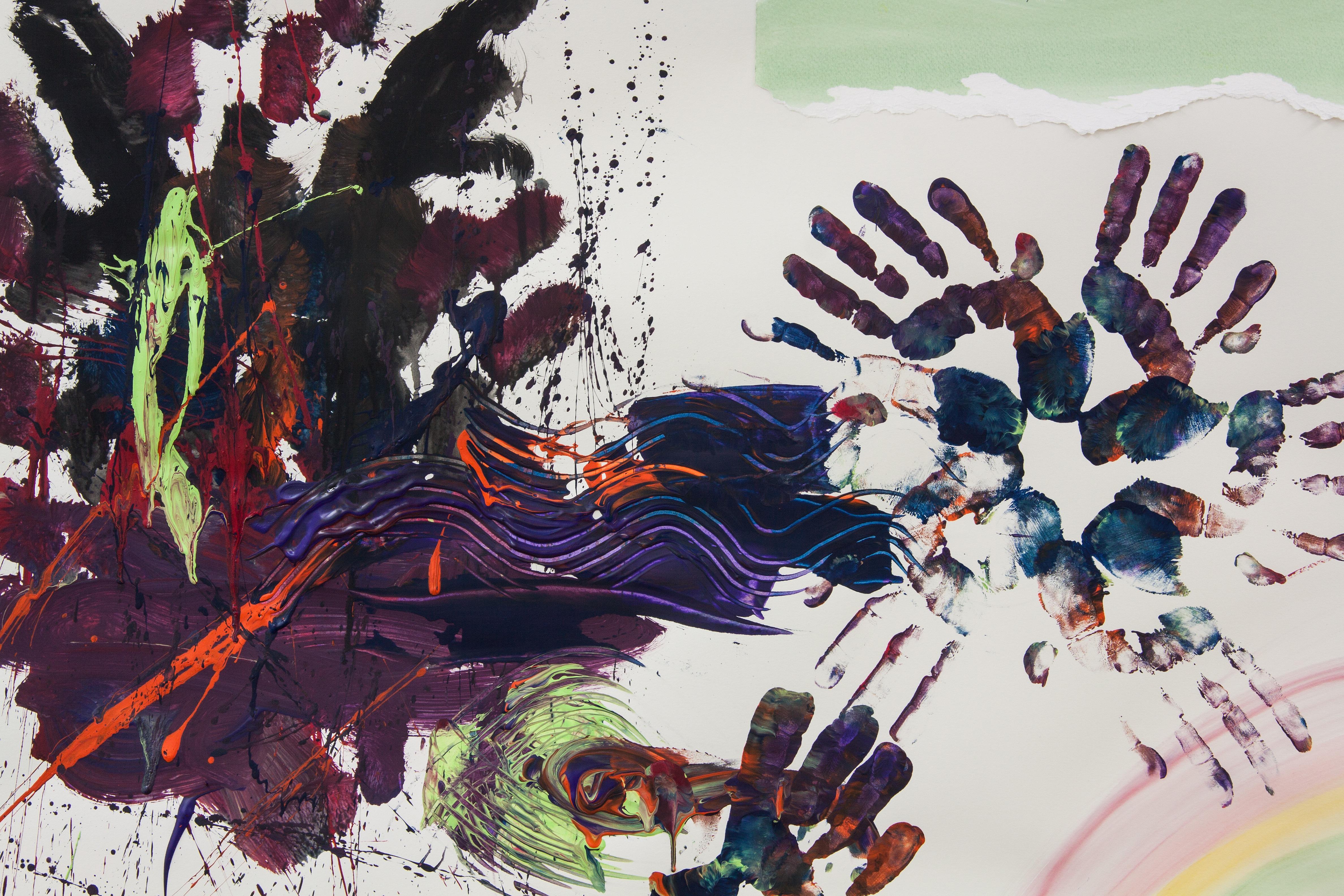 Fotoğraf Soyut Yapı çiçek Boya Renkli Boyama Illüstrasyon