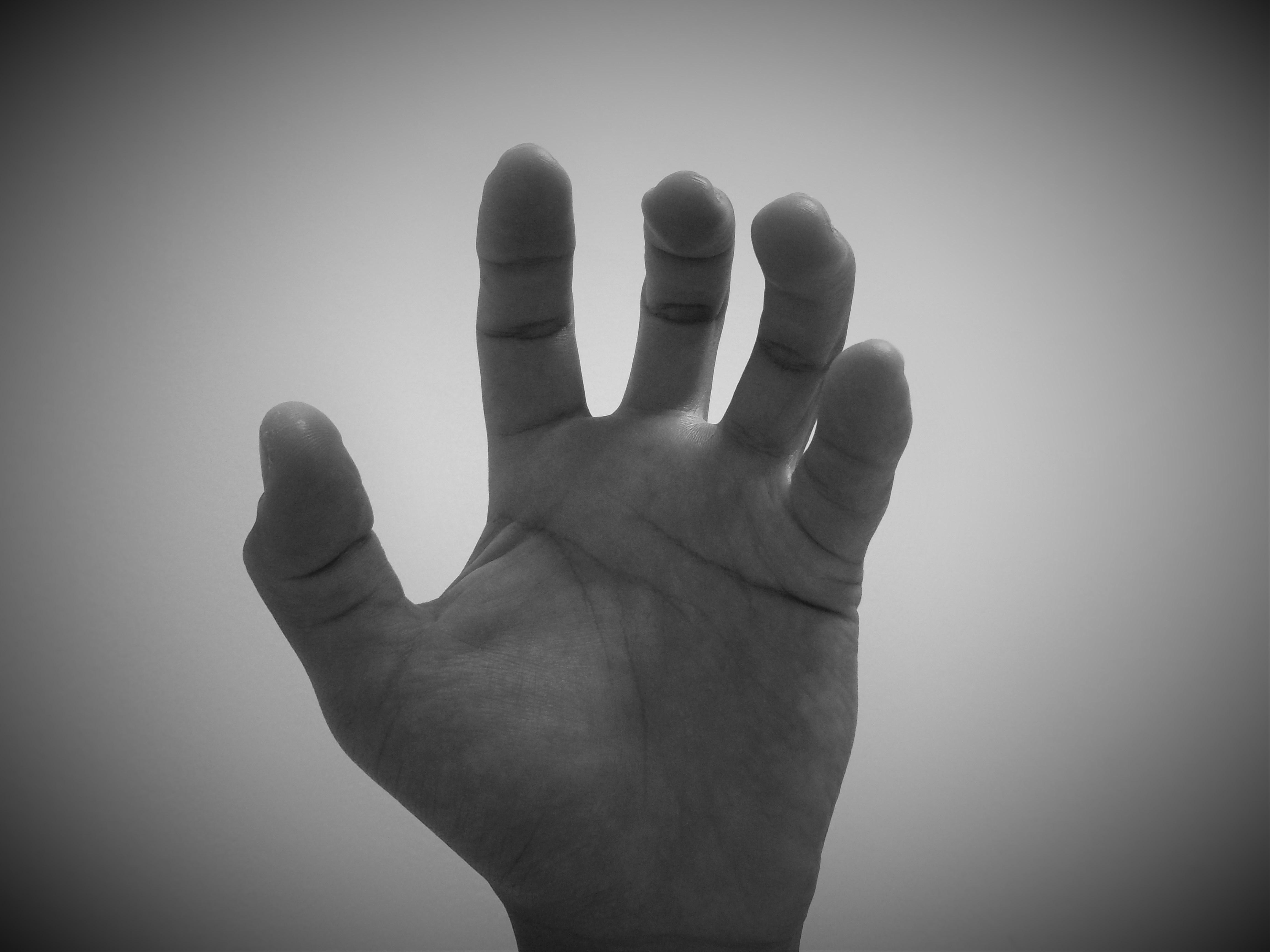 Рождеством, картинка с пальцами