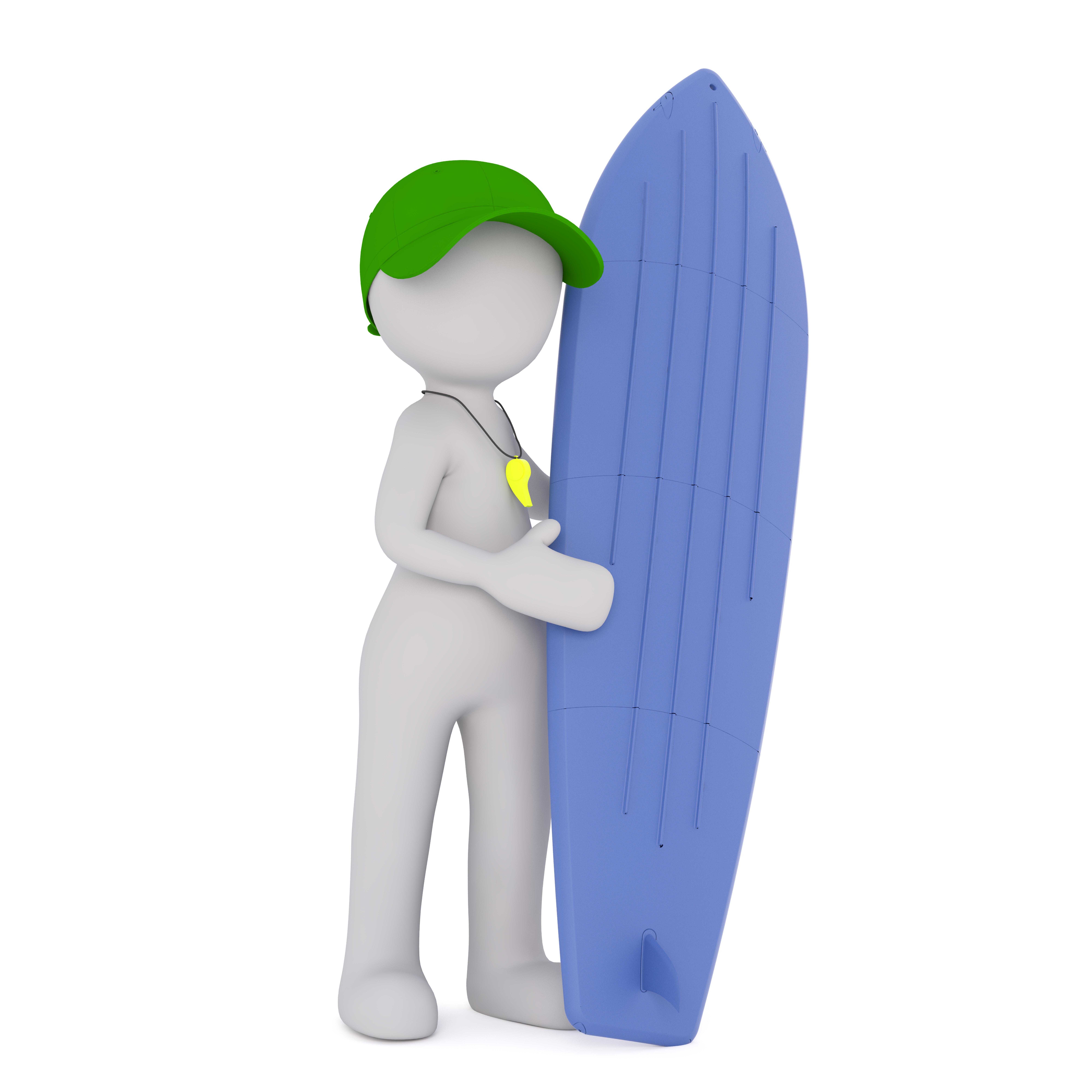 Gambar Tangan Naik Terpencil Surfer Model Jari Papan Luncur