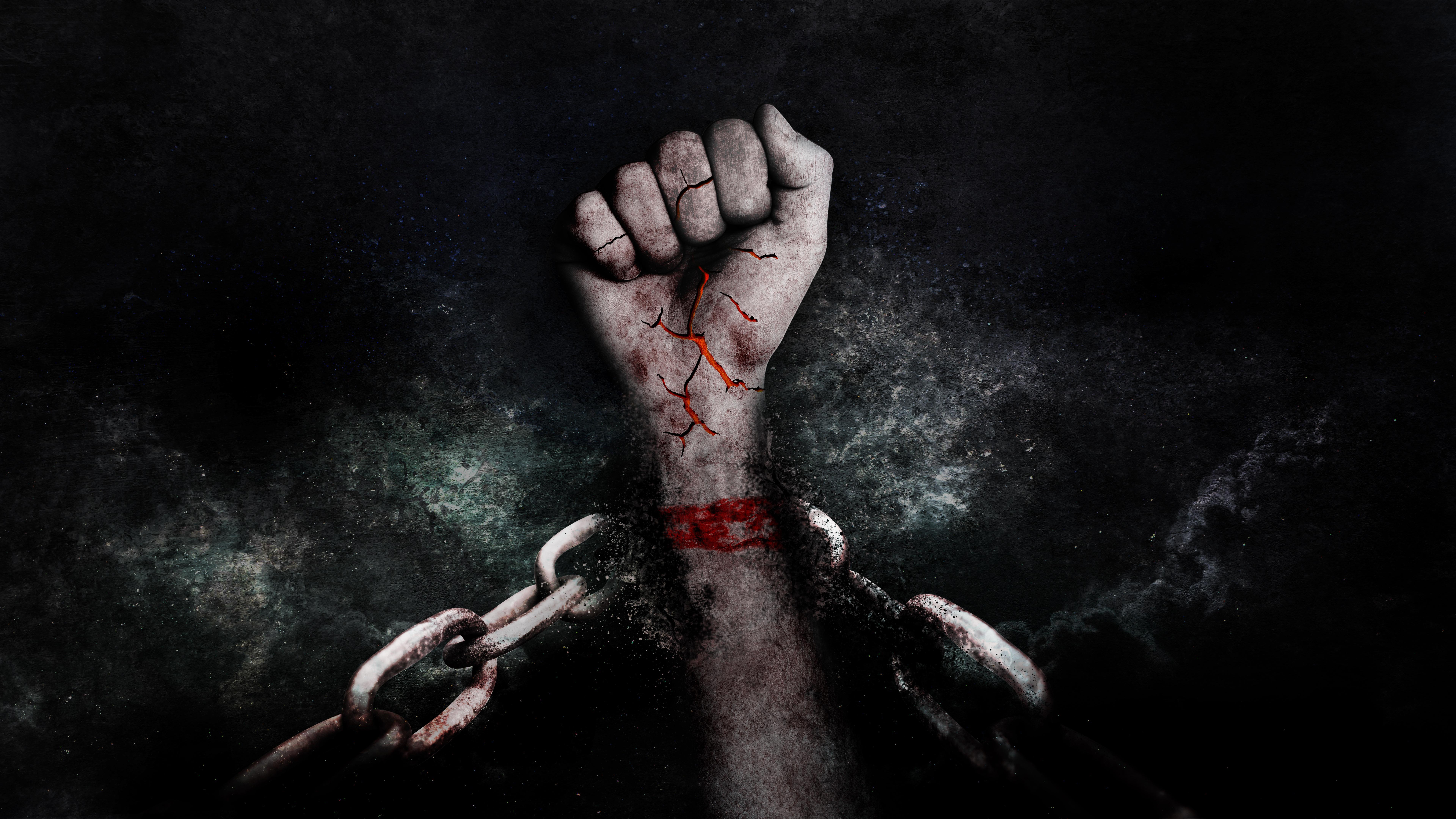 Kostenlose foto : Hand, Dunkelheit, Freiheit, Ketten, Gefängnis ...
