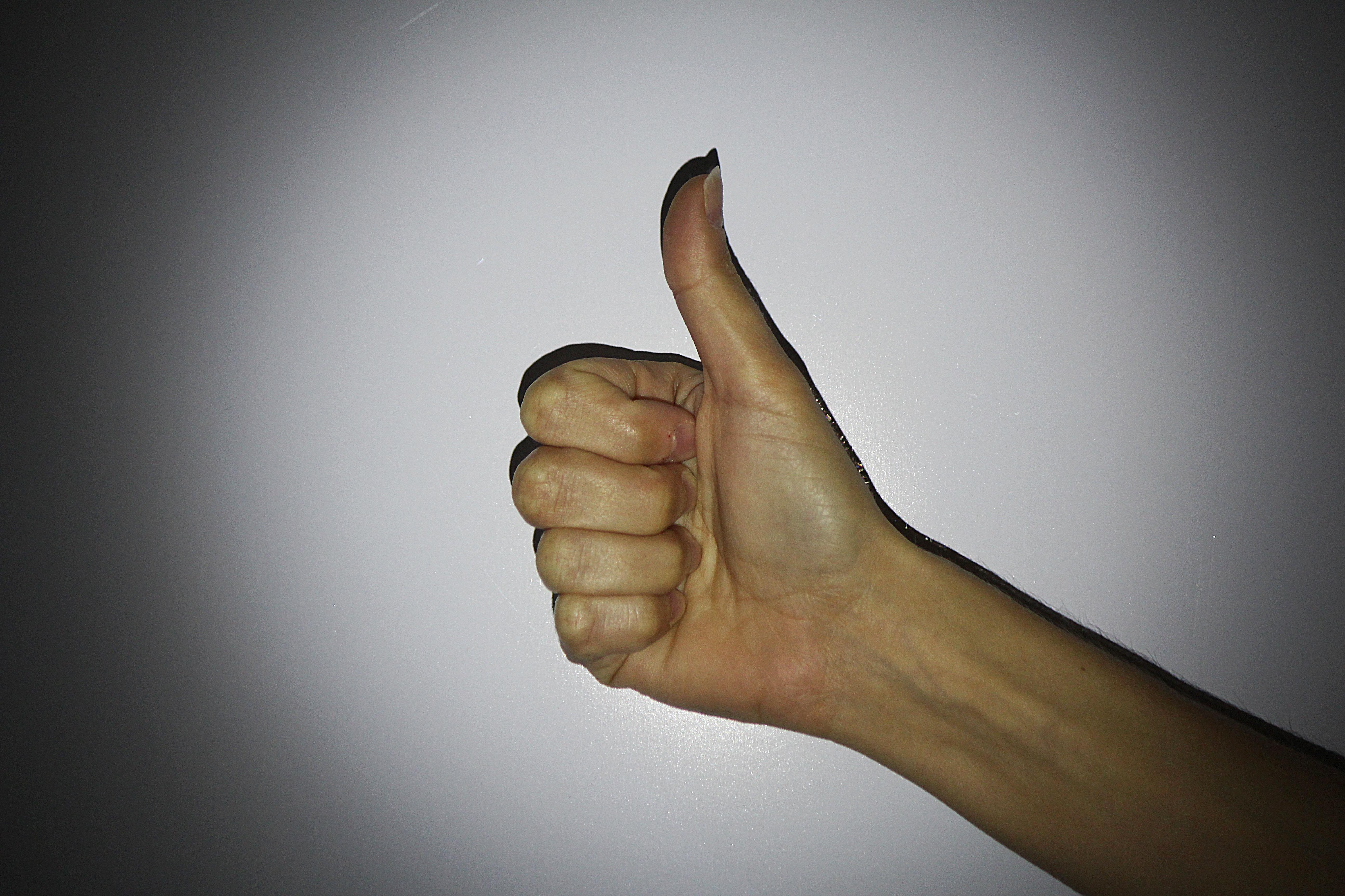 рука с большим пальцем картинка для этого
