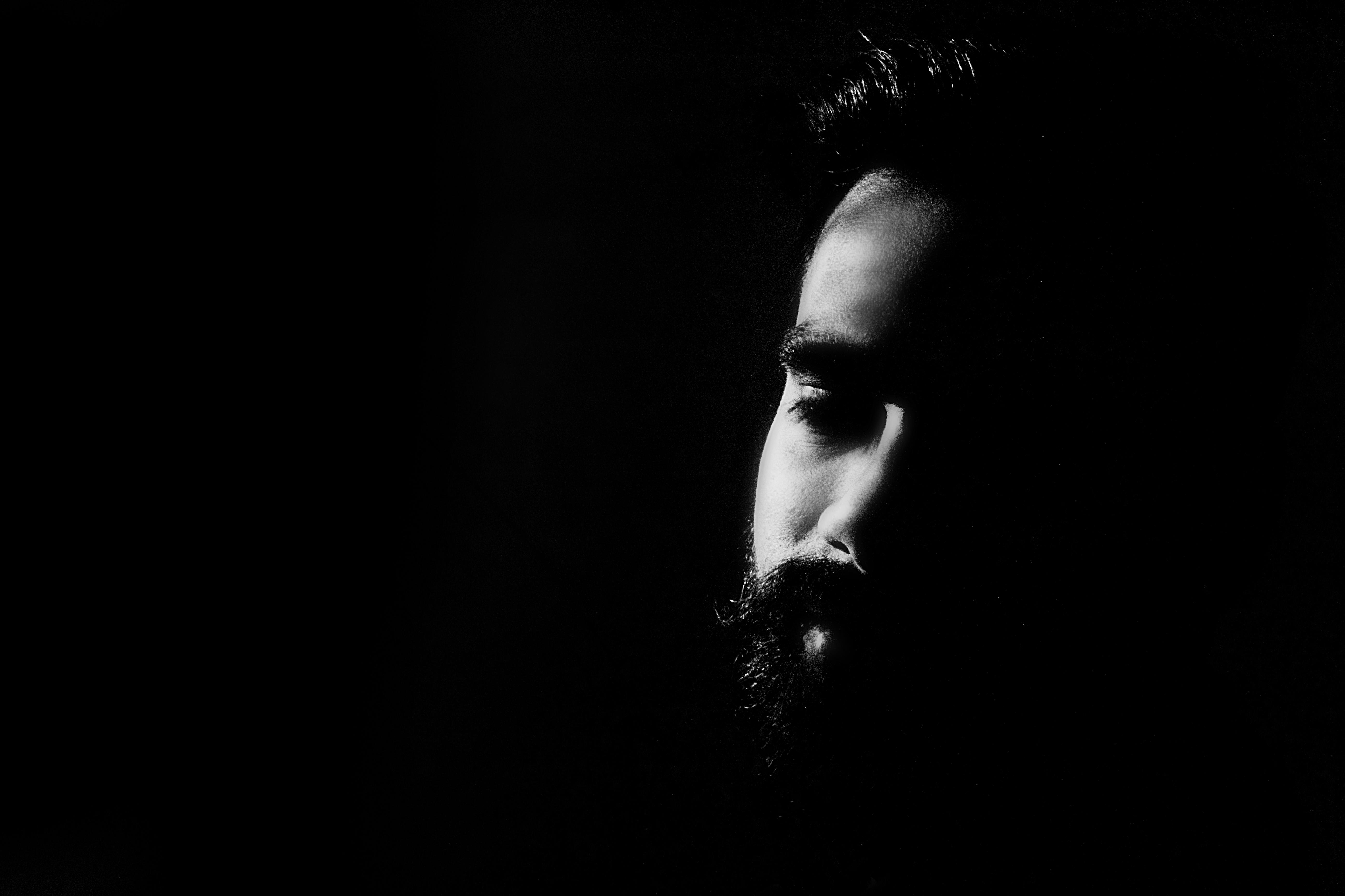 Hand man person light black and white photography dark male darkness black monochrome beard monochrome photography