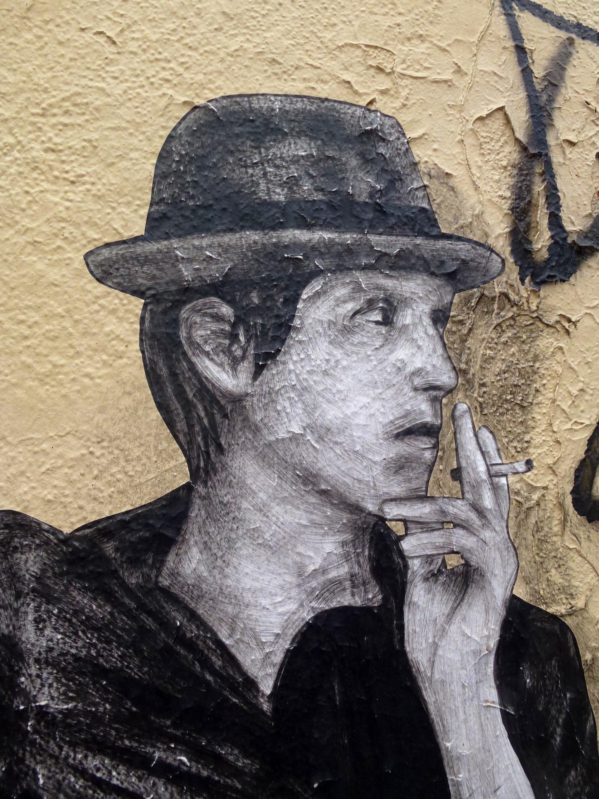 Gambar Tangan Manusia Tekstur Paris Dinding Merokok Profil