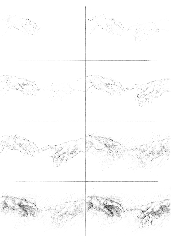 Gambar Alam Pensil Hitam Dan Putih Retro Simbol