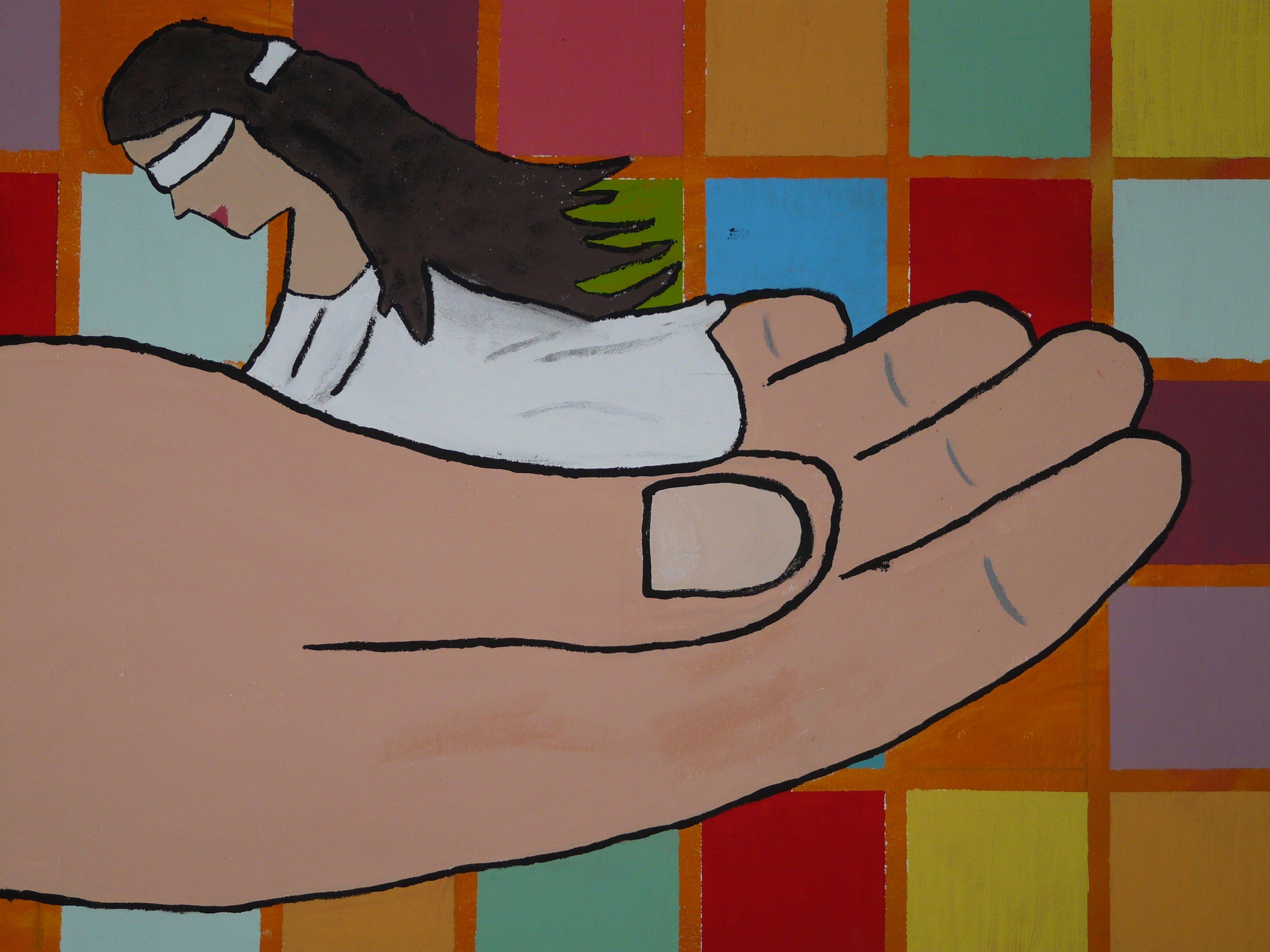 Gambar Tangan Orang Abstrak Wanita Warna Tubuh Manusia Seni
