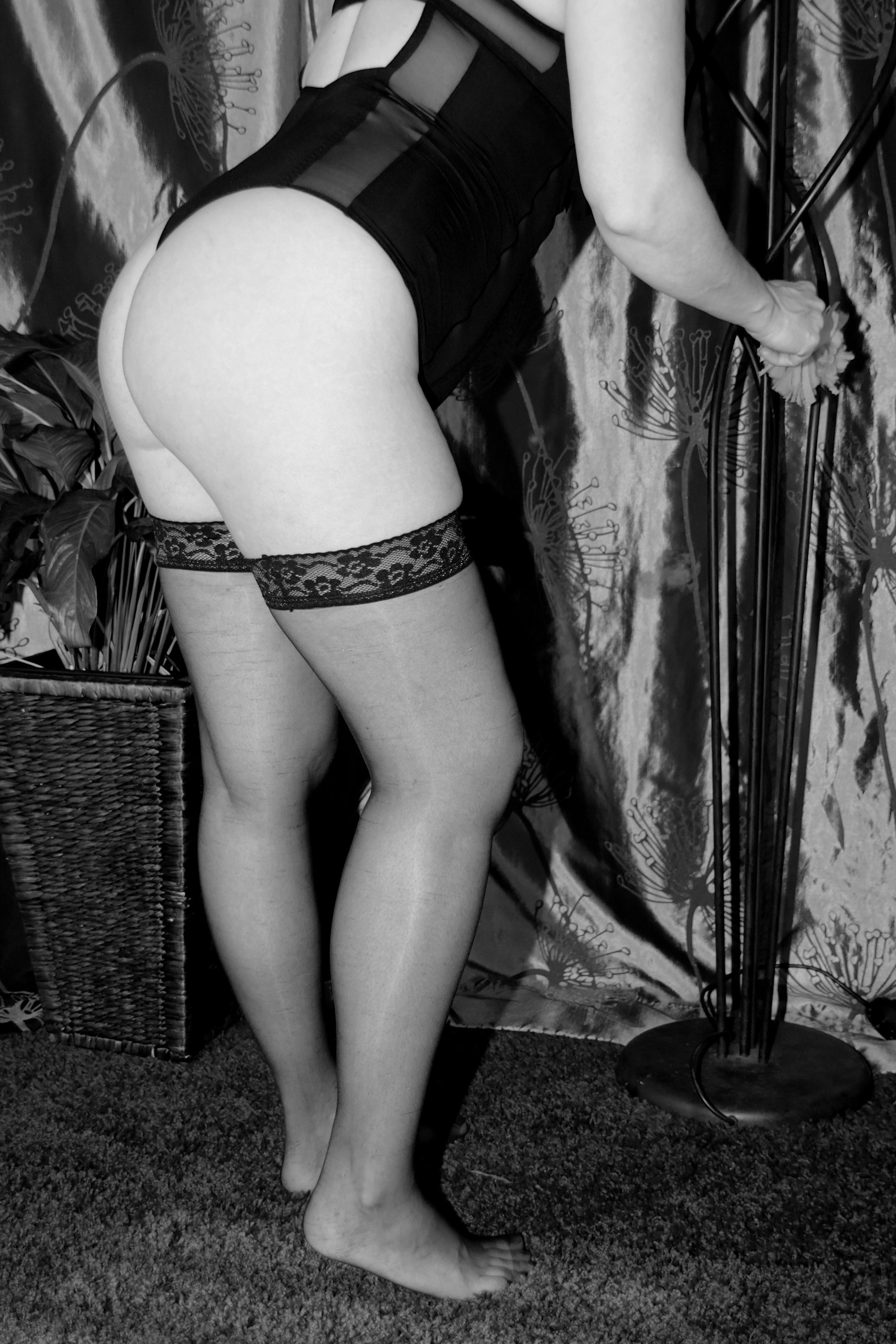 Nude women panties and stockings something