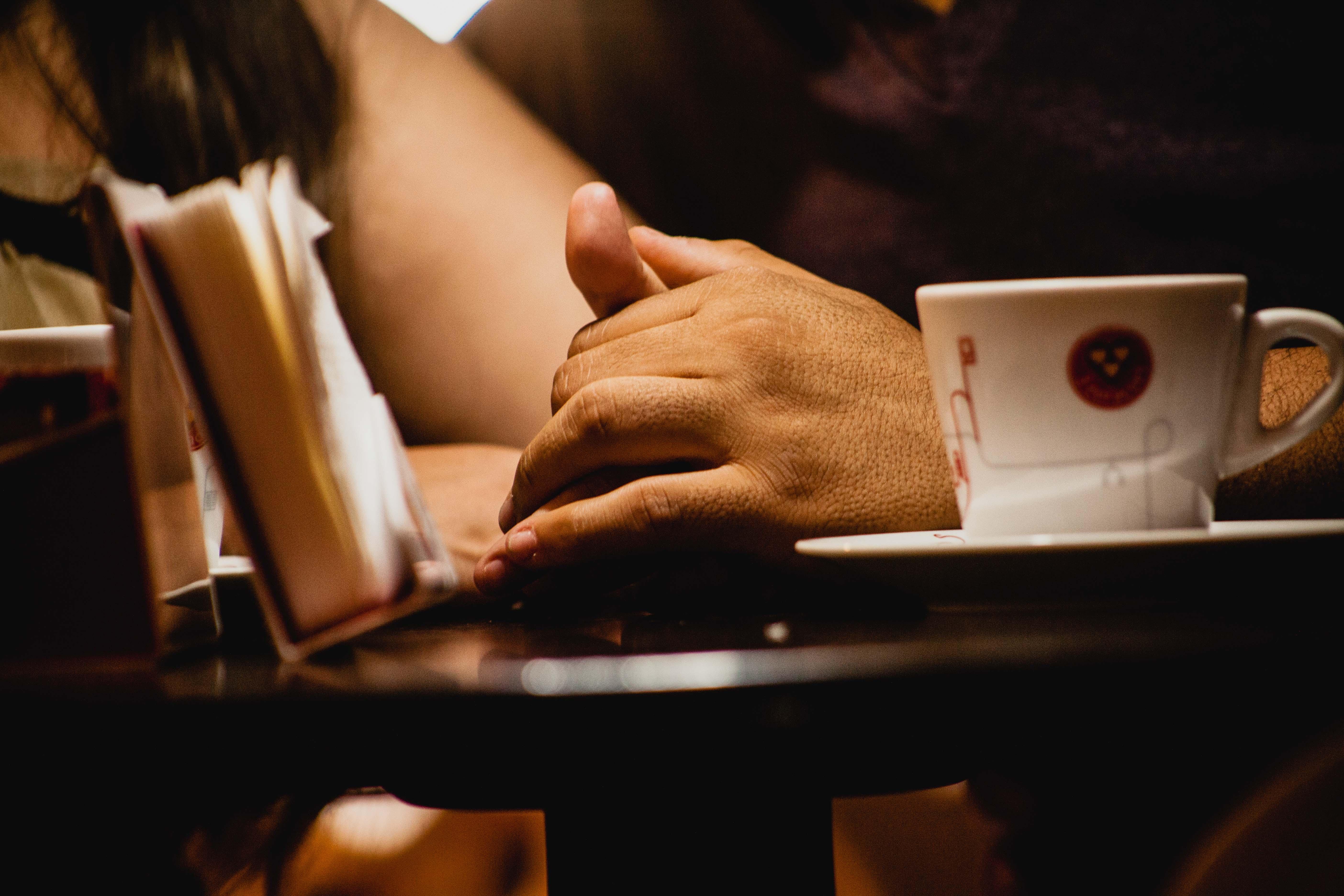 Hand Person Kaffee Liebe Romantisch Zuneigung Hände Details Leidenschaft  Casal Valentinstag Brasilien Sinn