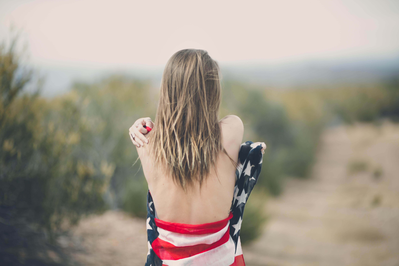 Sexy patriotic blonde nude congratulate, what