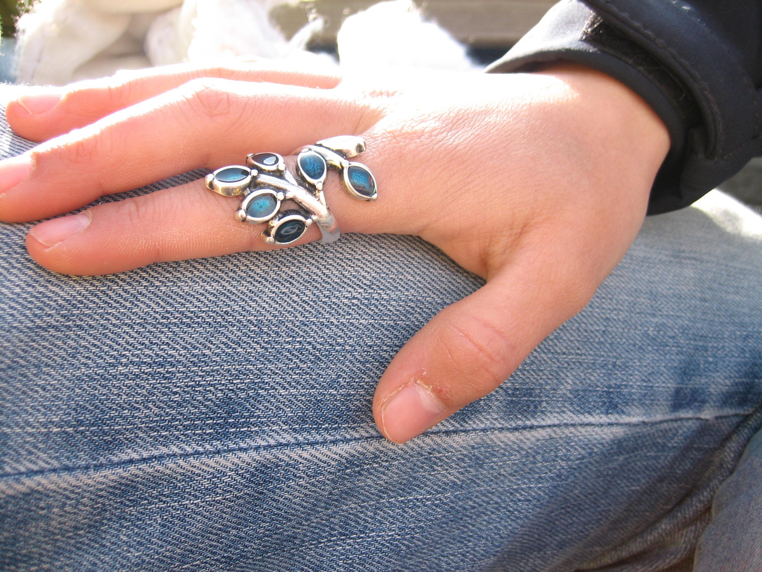 hand ring bein muster finger blau arm nagel armband schmuck edelsteine gescheitert mode zubehr finger - Nagel Muster
