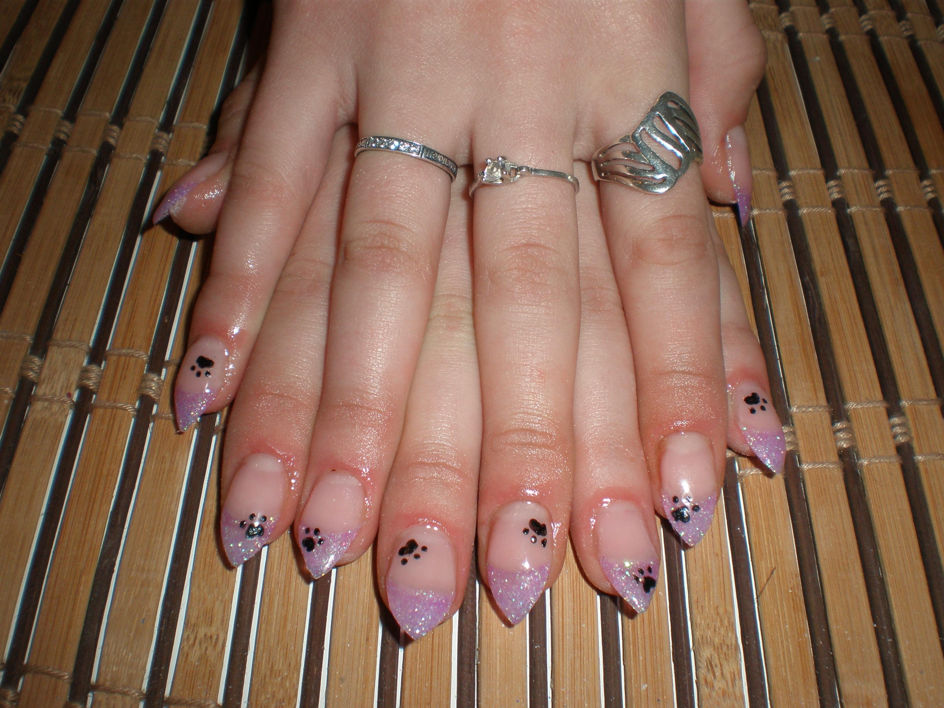 Неудачный френч на ногтях фото