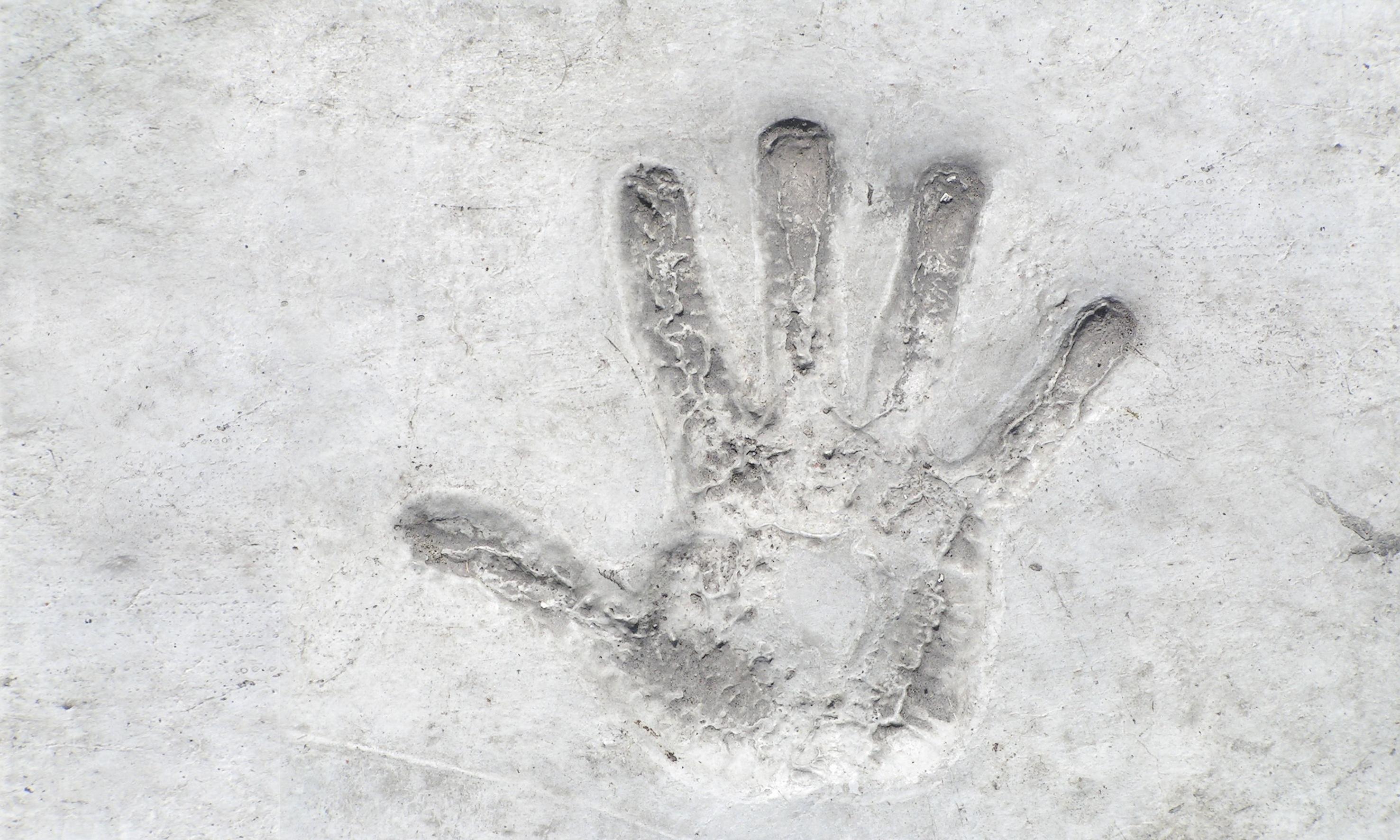 Gambar Tangan Salju Putih Monumen Hollywood Jari