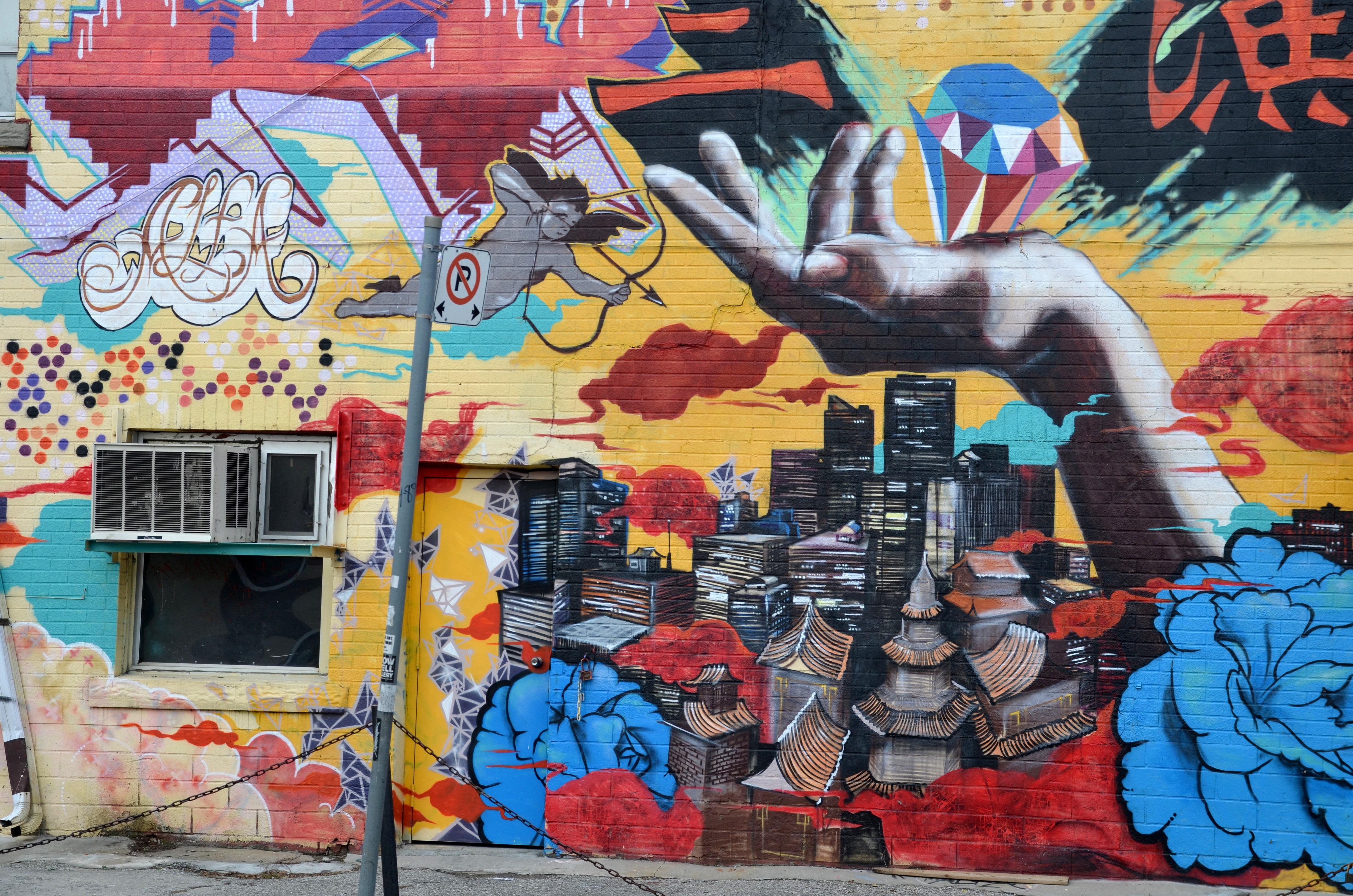 Images gratuites main mur symbole asie peindre graffiti la peinture art de rue - Murales pintados en la pared ...