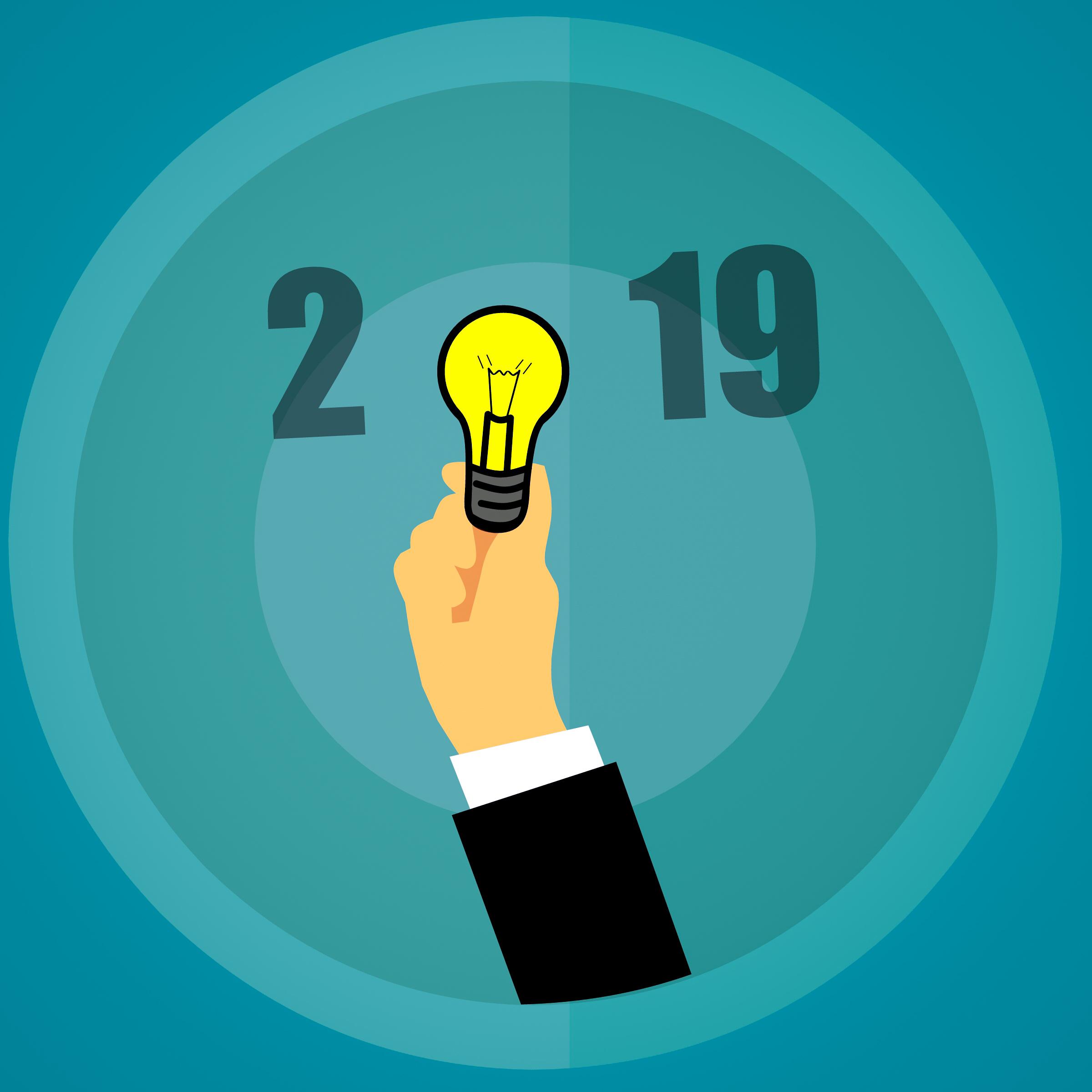 Kostenlose foto : Frohes neues Jahr, Ideen, 2019, Birne, Kreativität ...