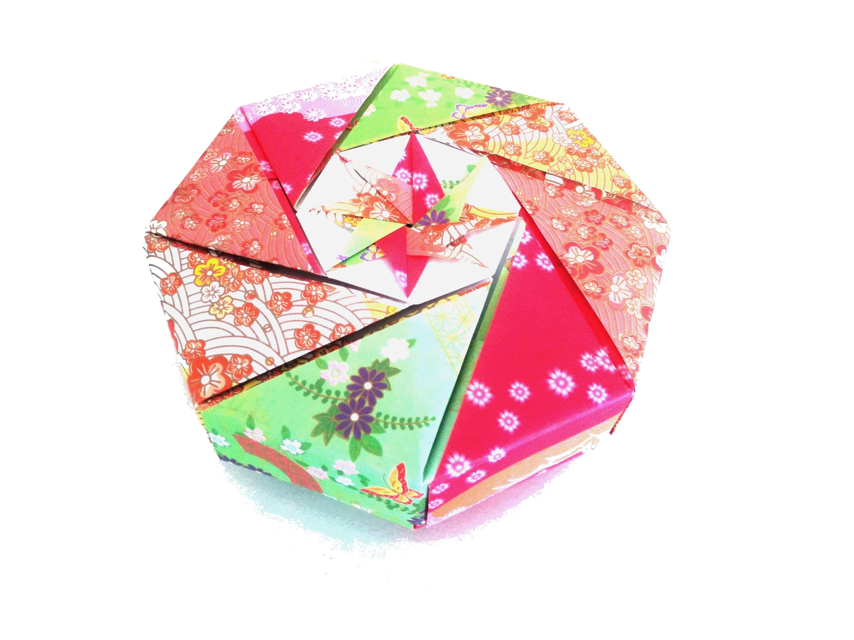 Heart Gift Box Pink Japan Paper Art Shape Origami Japanese Patterns