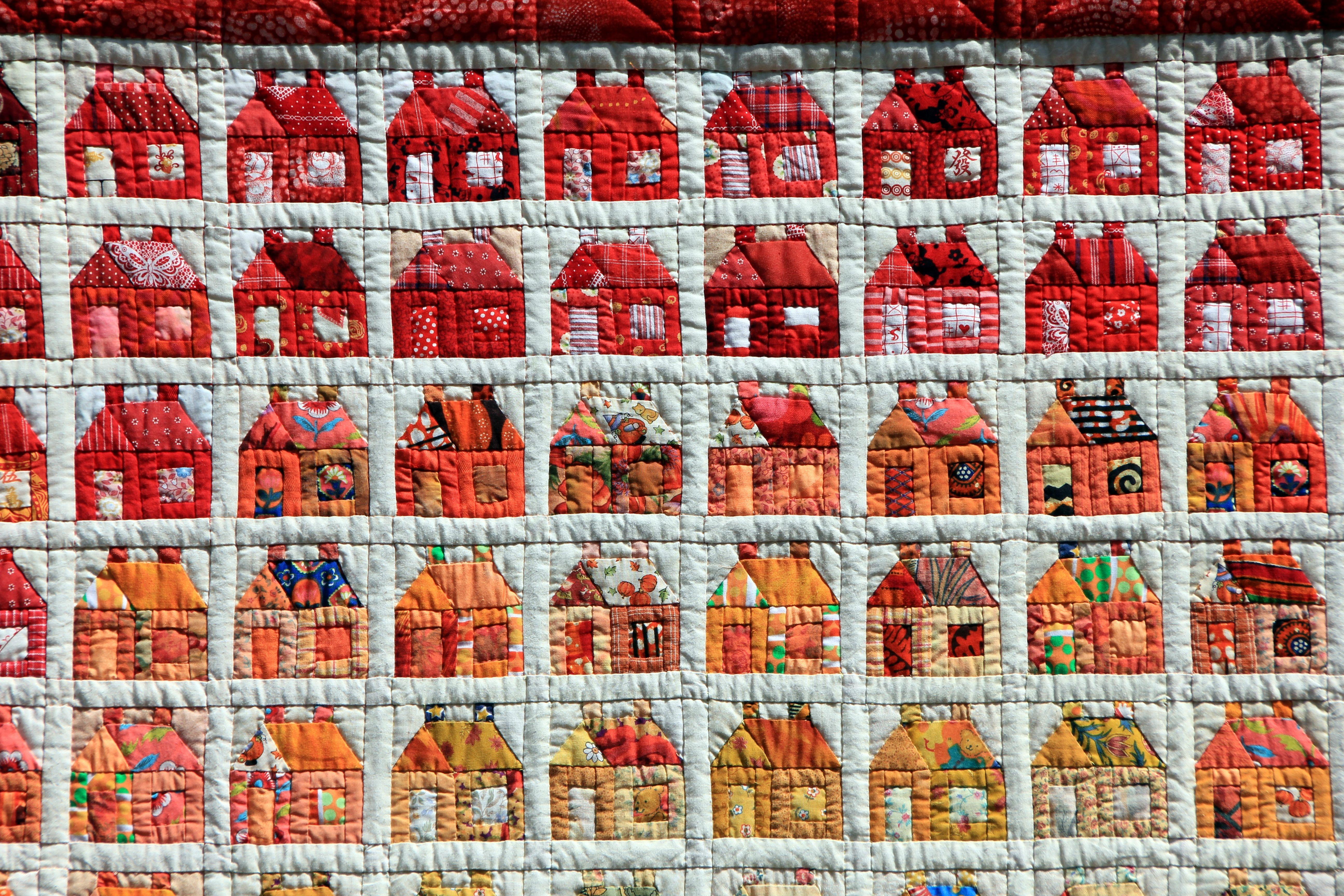 Kostenlose foto : Zuhause, Muster, rot, Ziegel, nähen, Patchwork ...
